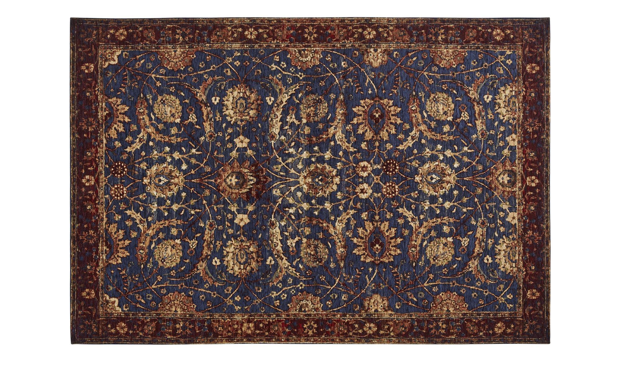 Webteppich  History ¦ blau ¦ 36% Acryl, 34%Polyester, 30% Baumwolle ¦ Maße (cm): B: 68 Teppiche > Wohnteppiche - Höffner