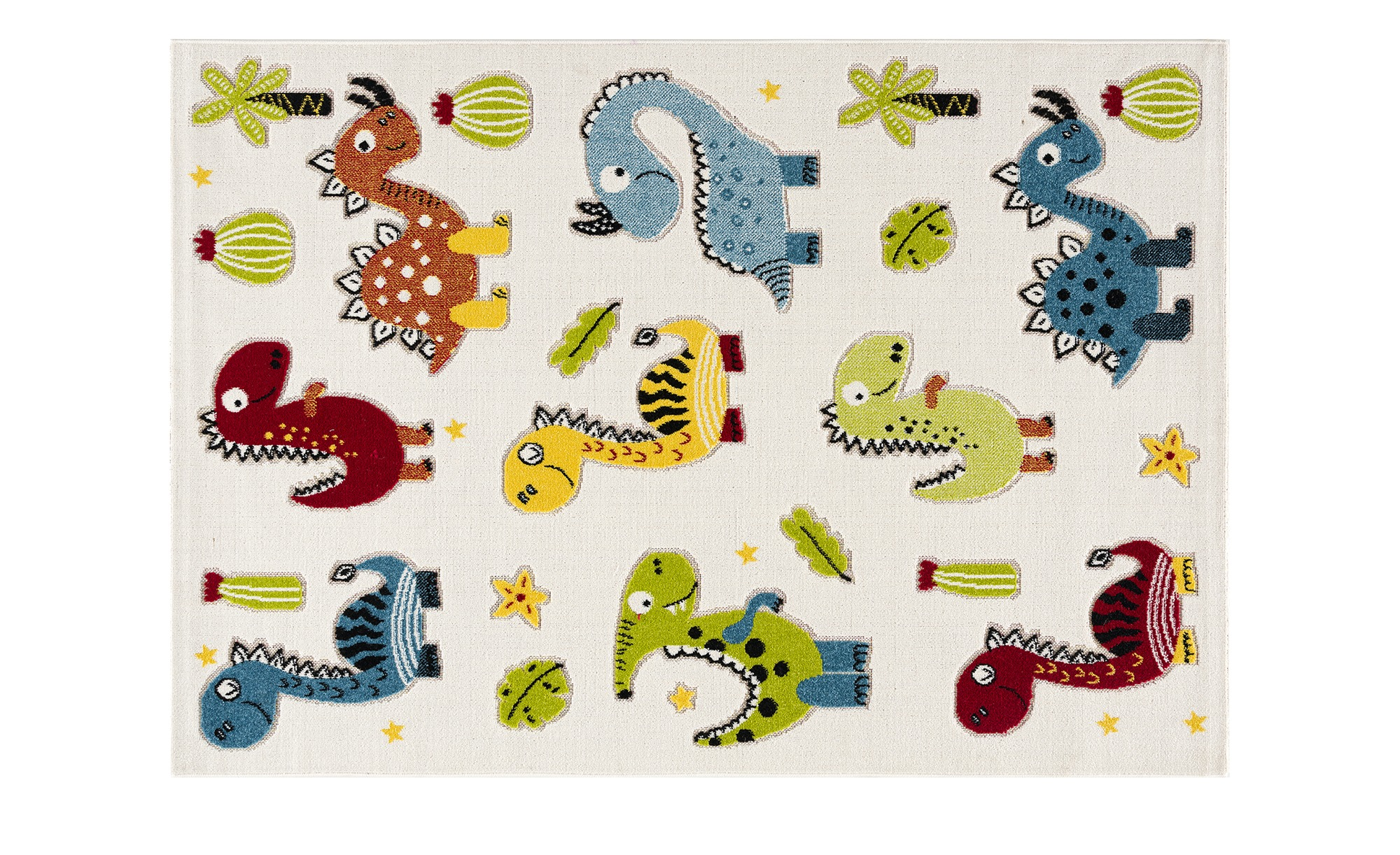 Teppich für Kinder mit lustigen Dinos