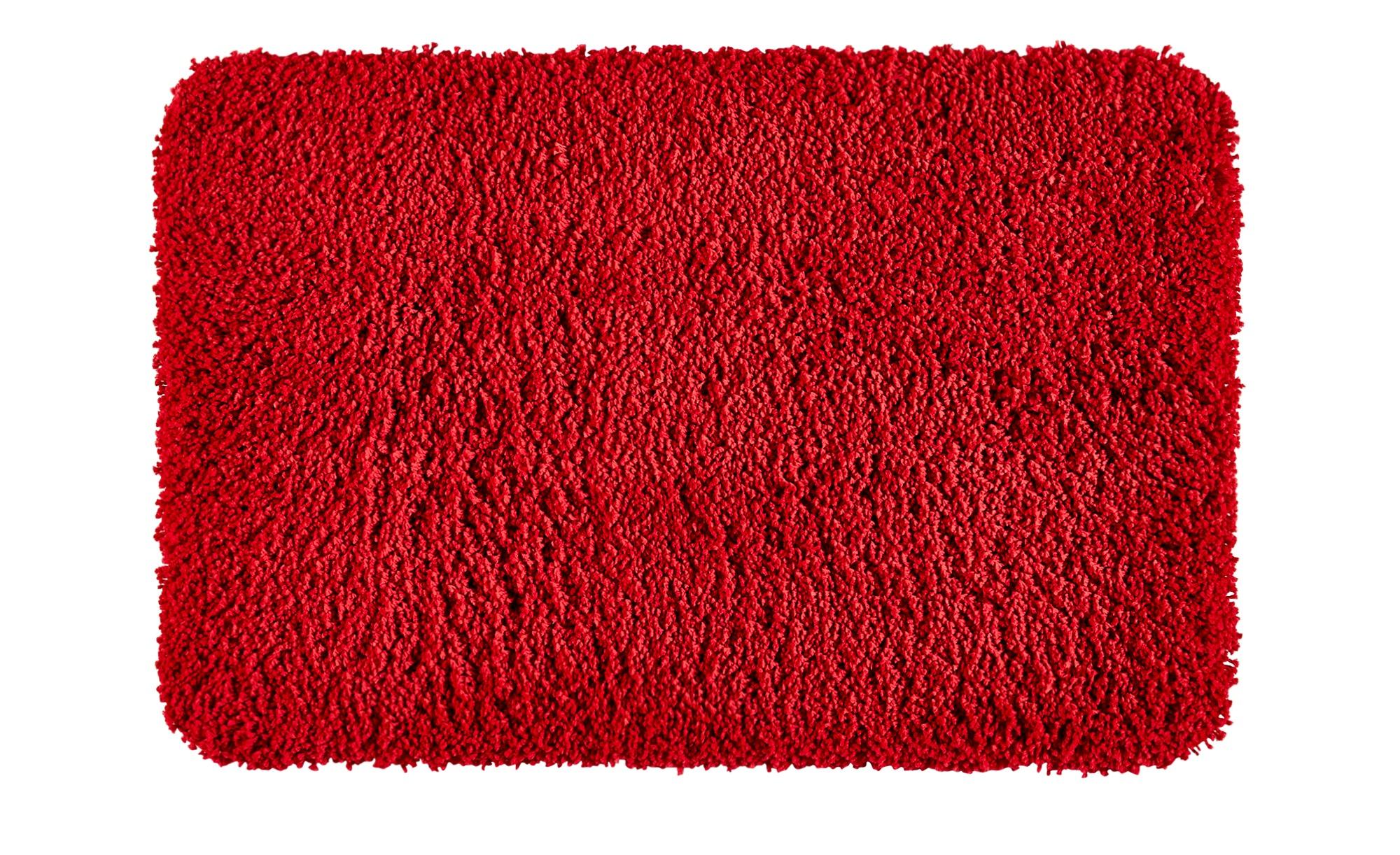 Kleine Wolke Badteppich  Trend ¦ rot ¦ 100% Polyester ¦ Maße (cm): B: 60 Badtextilien und Zubehör > Badematten & Badvorleger - Höffner