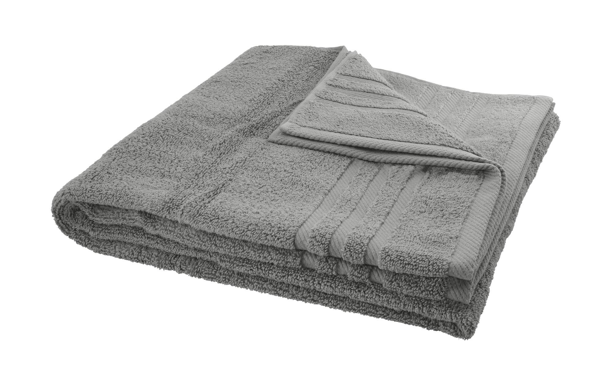 LAVIDA Duschtuch  Soft Cotton ¦ grau ¦ reine Micro-Baumwolle ¦ Maße (cm): B: 70 Badtextilien und Zubehör > Handtücher & Badetücher > Duschtücher - Höffner