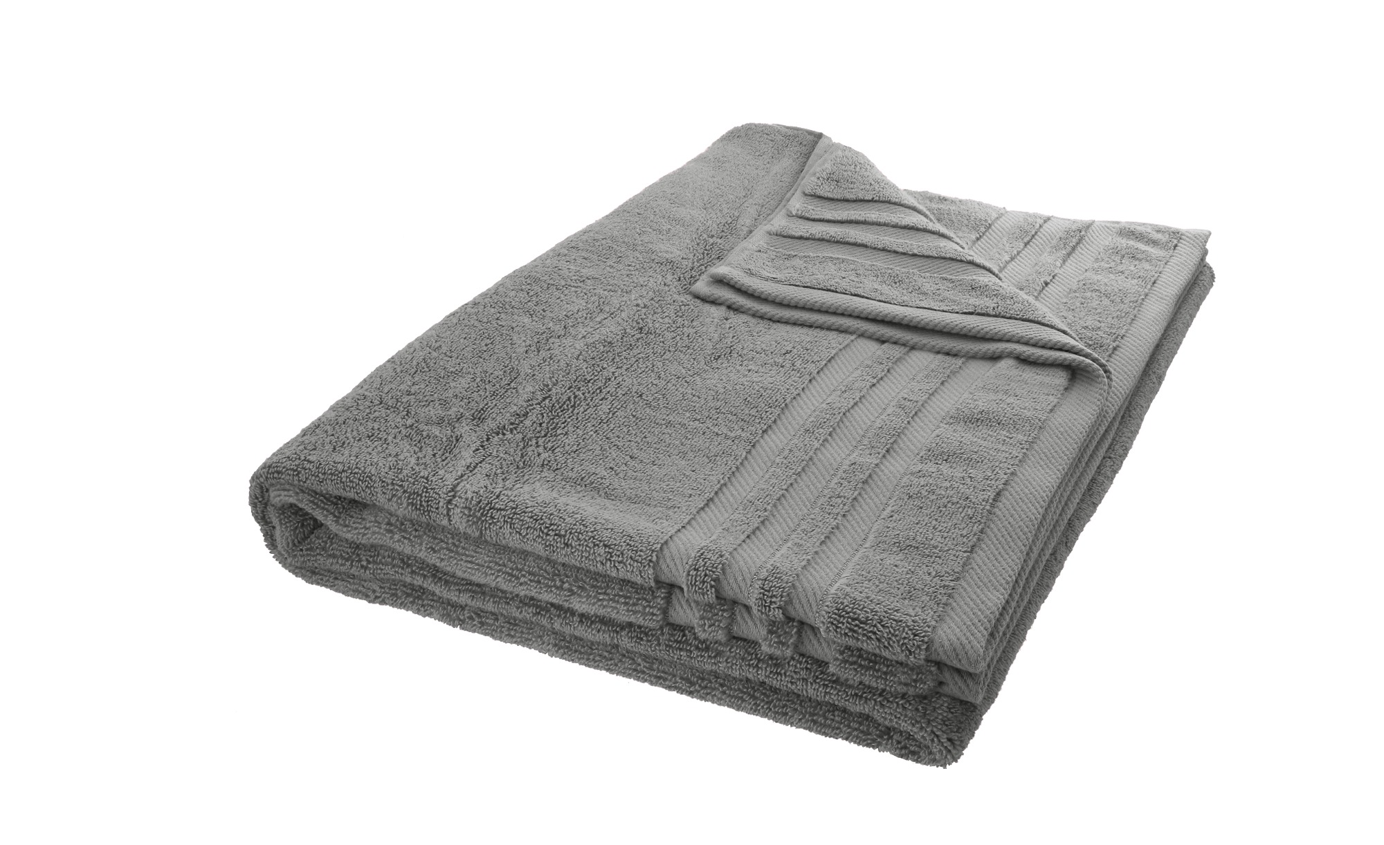 LAVIDA Badetuch  Soft Cotton ¦ grau ¦ reine Micro-Baumwolle ¦ Maße (cm): B: 100 Badtextilien und Zubehör > Handtuch-Sets - Höffner