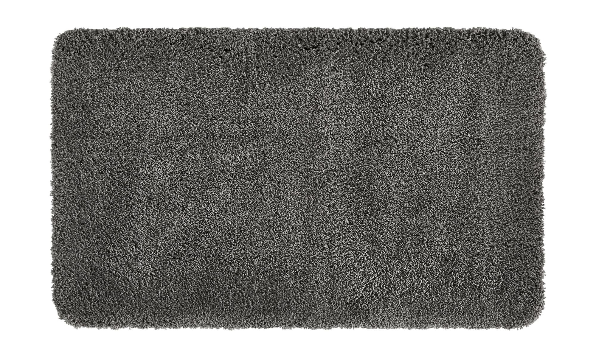 HOME STORY Badteppich  Softy ¦ grau ¦ 100% Polyester ¦ Maße (cm): B: 70 Badtextilien und Zubehör > Badematten & Badvorleger - Höffner