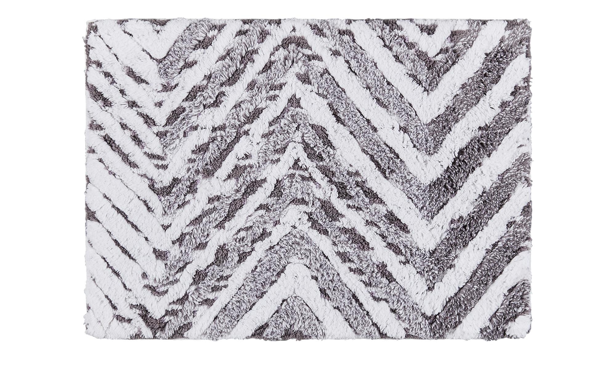 Badteppich  Metallic ¦ grau ¦ reine Baumwolle ¦ Maße (cm): B: 50 Badtextilien und Zubehör > Badematten & Badvorleger - Höffner