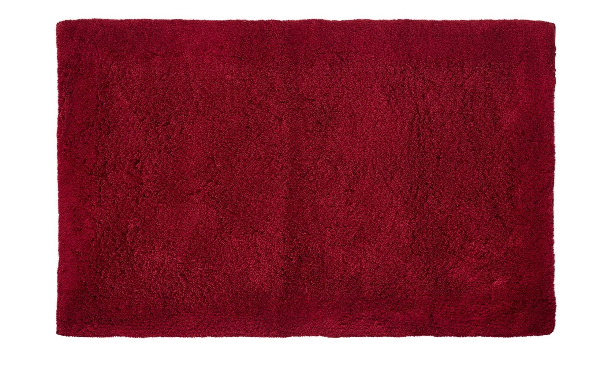 Badteppich  Wölkchen ¦ rot ¦ reine Baumwolle ¦ Maße (cm): B: 70 Badtextilien und Zubehör > Badematten & Badvorleger - Höffner