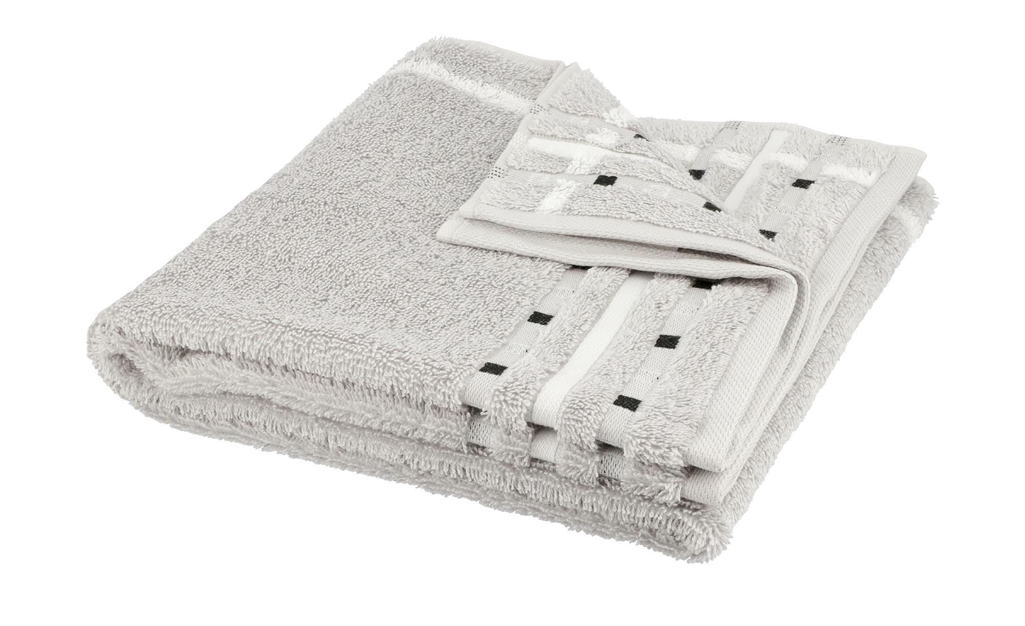VOSSEN Handtuch  Atletico ¦ grau ¦ 100% Baumwolle ¦ Maße (cm): B: 50 Badtextilien und Zubehör > Handtücher & Badetücher > Handtücher - Höffner