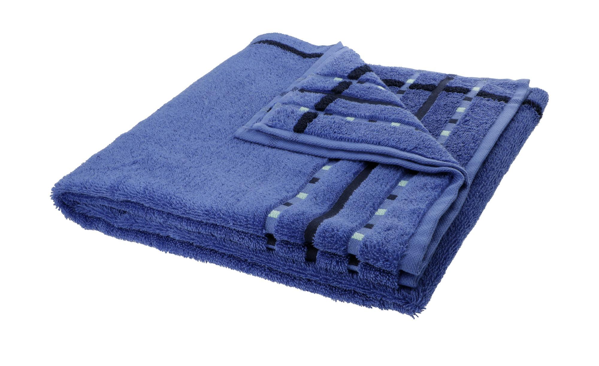 VOSSEN Duschtuch  Atletico ¦ blau ¦ 100% Baumwolle ¦ Maße (cm): B: 67 Badtextilien und Zubehör > Handtücher & Badetücher > Duschtücher - Höffner