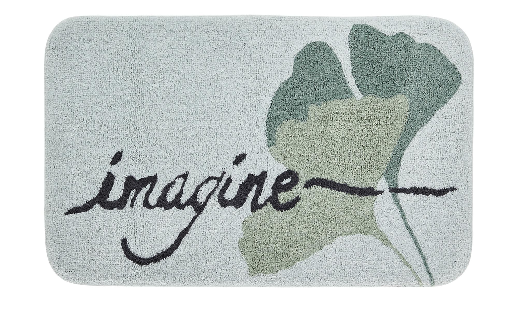 HOME STORY Badteppich  Imagine ¦ grün ¦ reine Baumwolle ¦ Maße (cm): B: 50 Badtextilien und Zubehör > Badematten & Badvorleger - Höffner