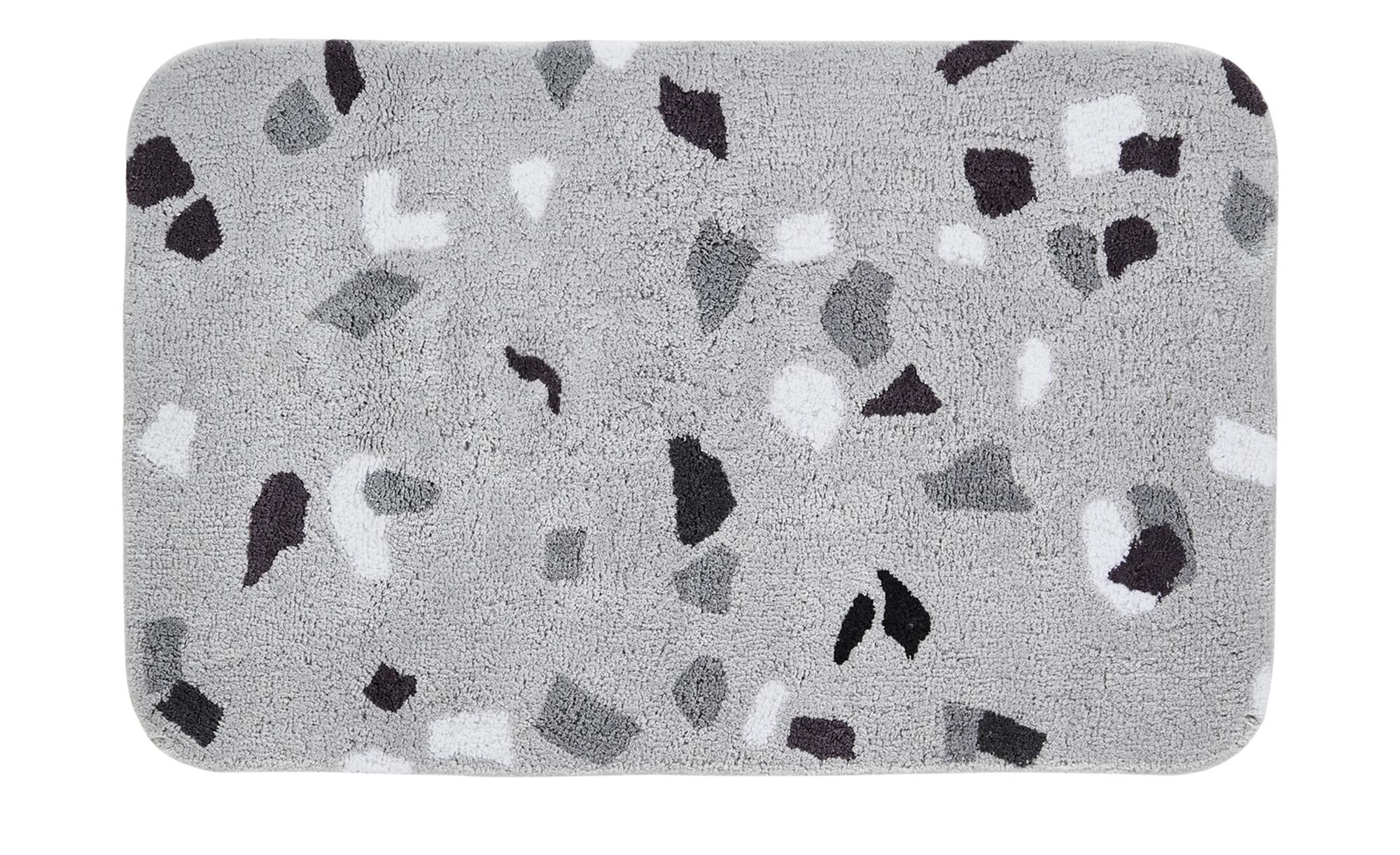 HOME STORY Badteppich  Concrete ¦ grau ¦ reine Baumwolle ¦ Maße (cm): B: 70 Badtextilien und Zubehör > Badematten & Badvorleger - Höffner