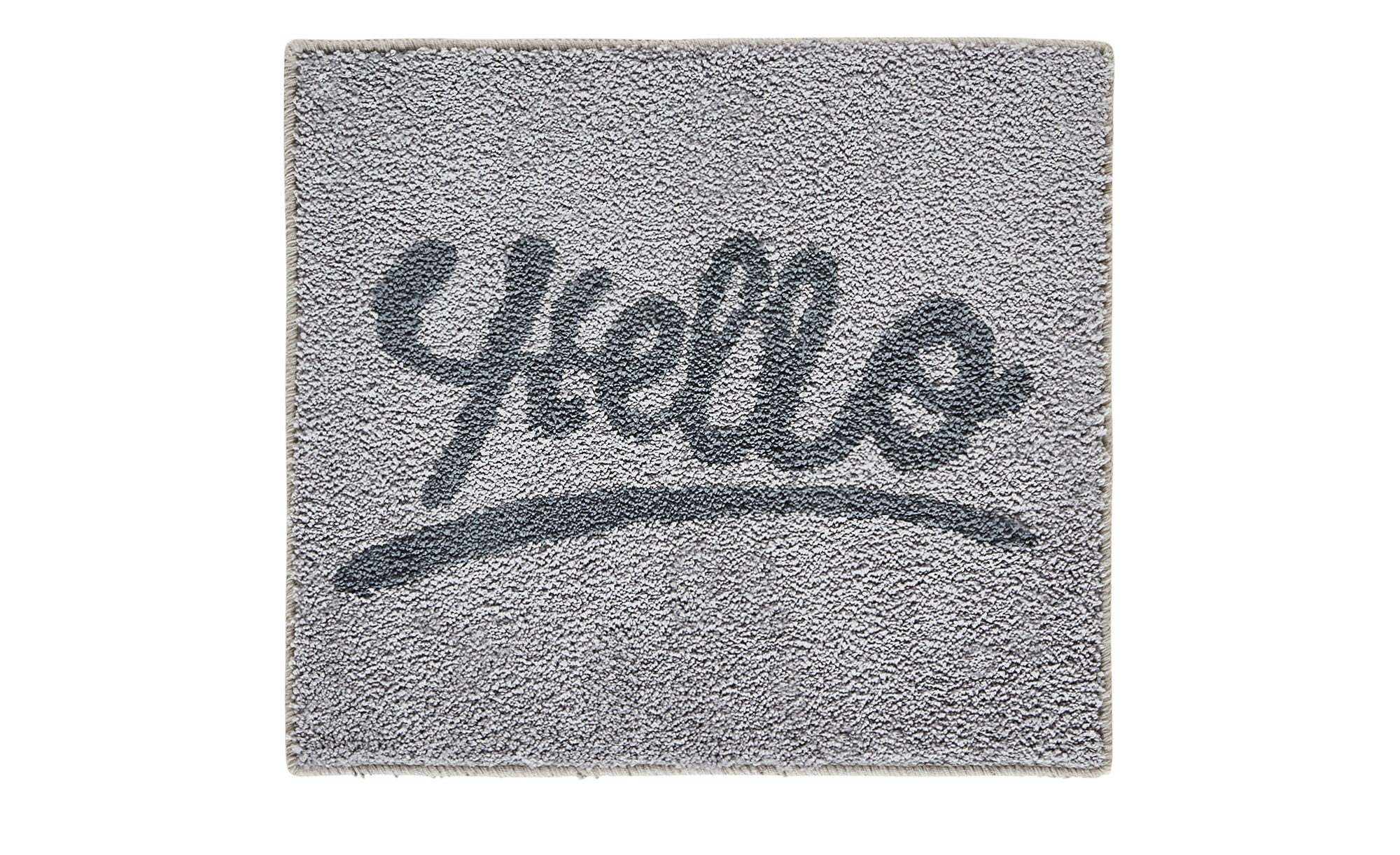 Badteppich  Hello ¦ grau ¦ 100 % Polyester  ¦ Maße (cm): B: 50 Badtextilien und Zubehör > Badematten & Badvorleger - Höffner