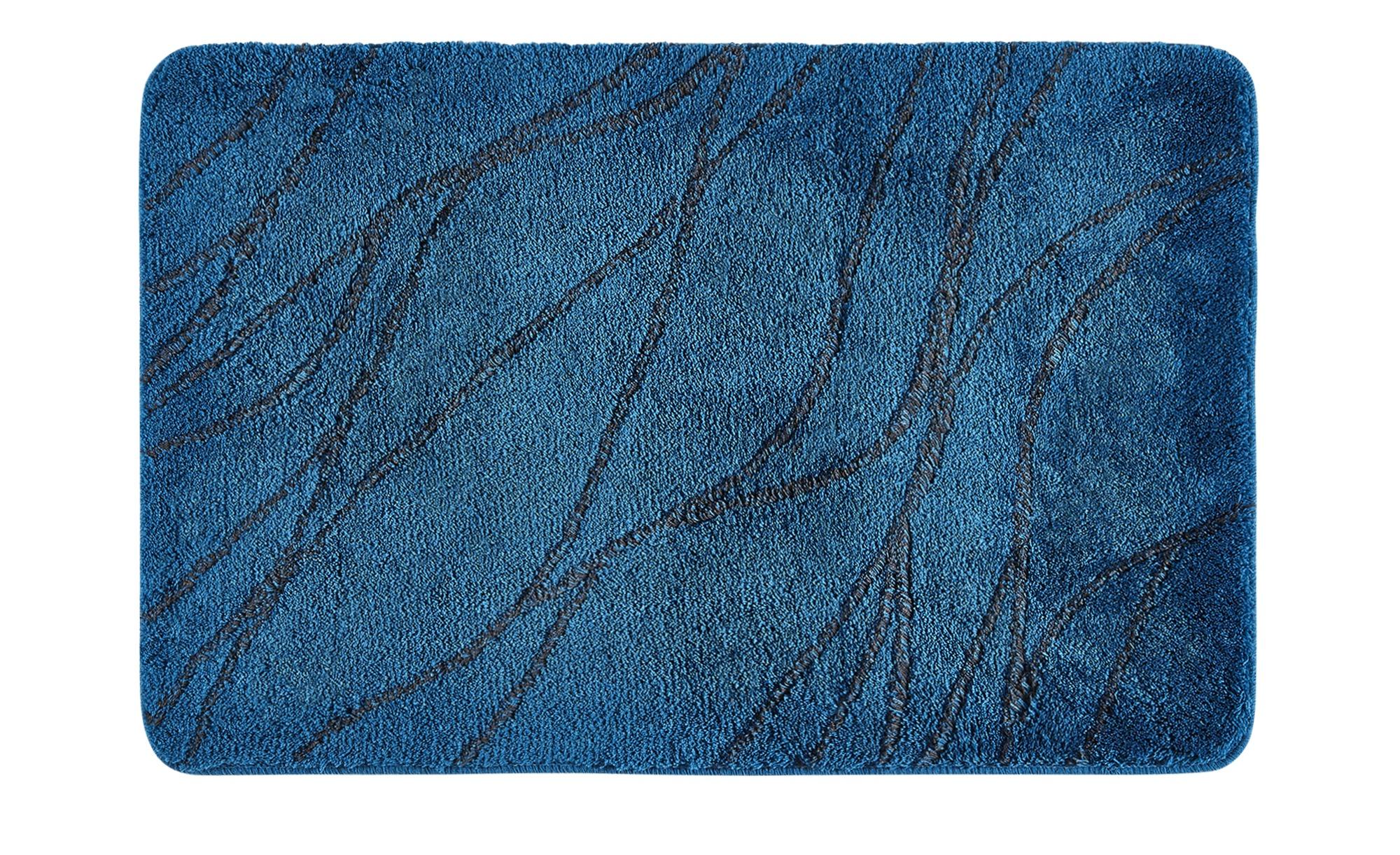 Badteppich  Alice ¦ blau ¦ 100 % Polyarcryl ¦ Maße (cm): B: 60 Badtextilien und Zubehör > Badematten & Badvorleger - Höffner