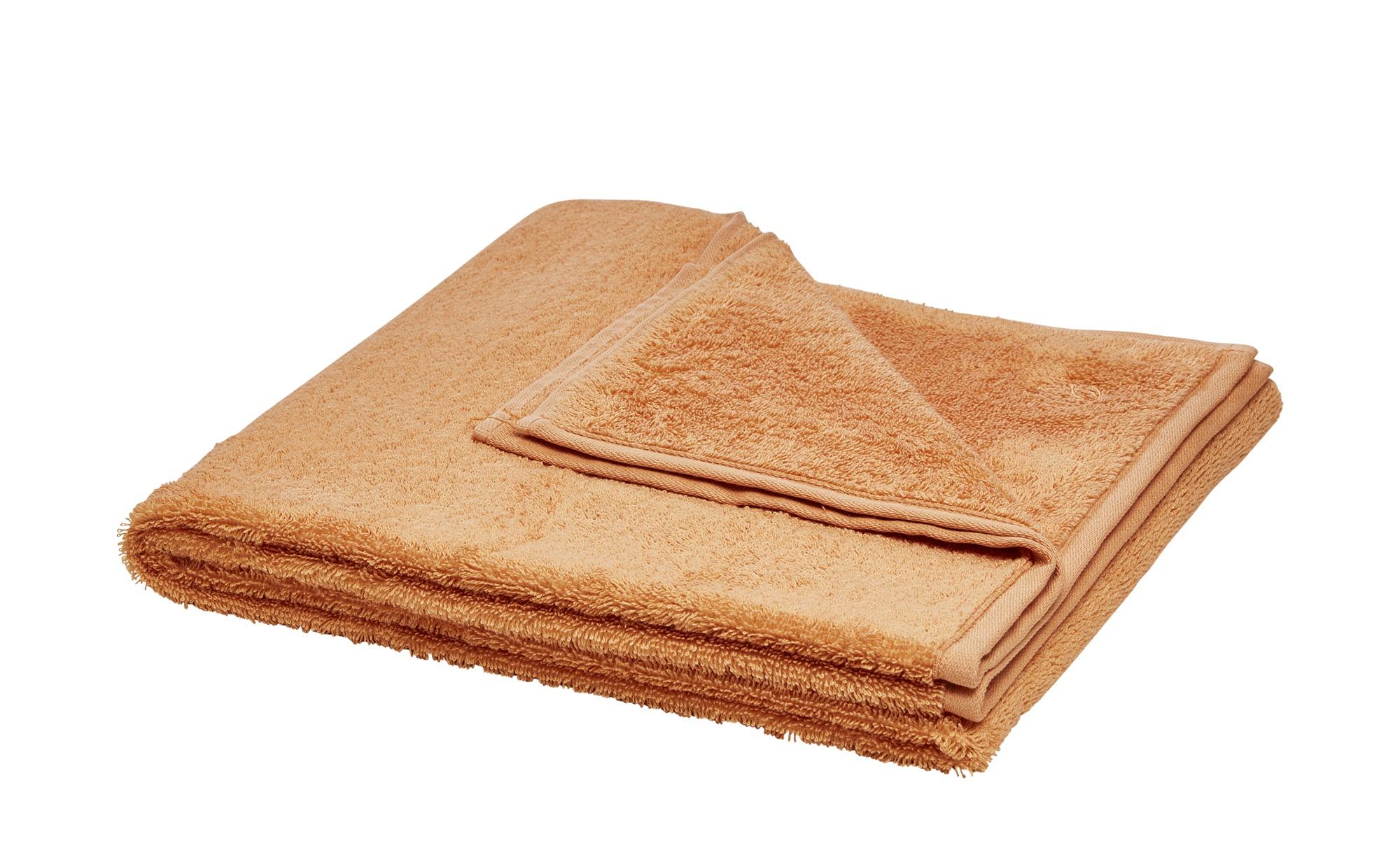 LAVIDA Duschtuch  Touch ¦ orange ¦ 100% Baumwolle ¦ Maße (cm): B: 67 Badtextilien und Zubehör > Handtücher & Badetücher > Duschtücher - Höffner
