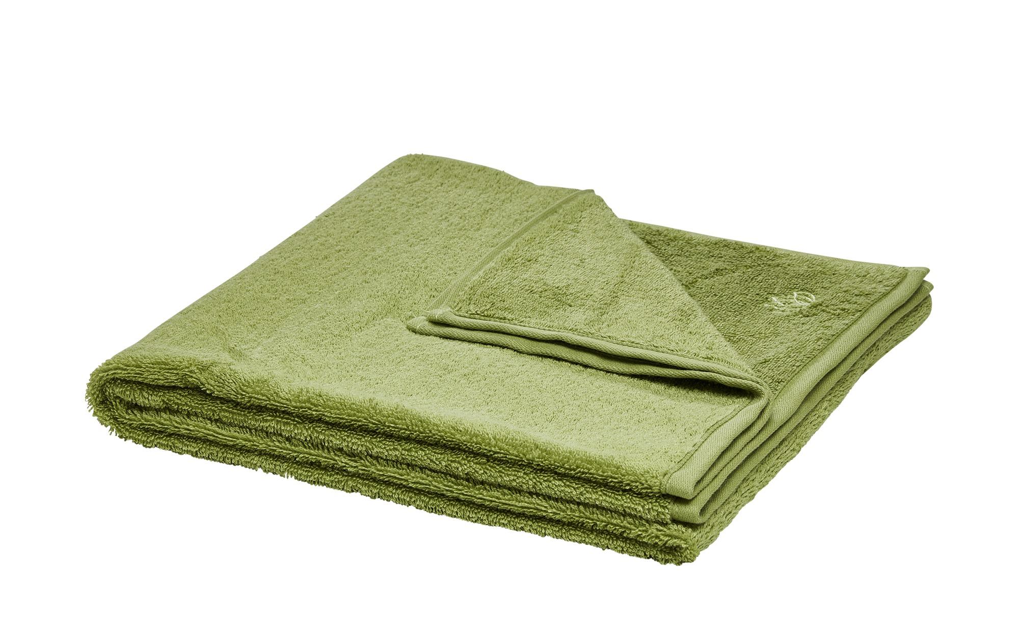 LAVIDA Duschtuch  Touch ¦ grün ¦ 100% Baumwolle ¦ Maße (cm): B: 67 Badtextilien und Zubehör > Handtücher & Badetücher > Duschtücher - Höffner