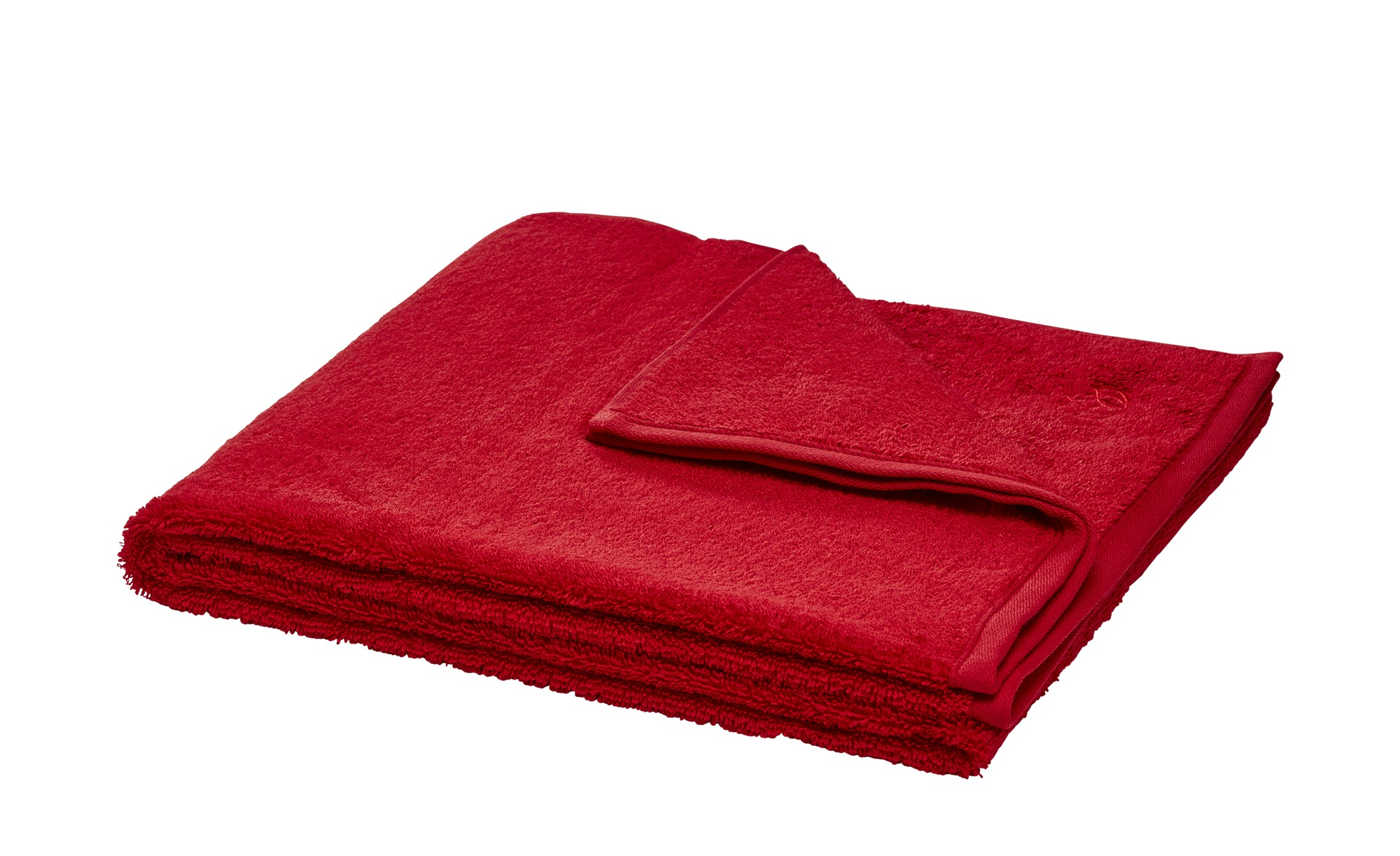 LAVIDA Duschtuch  Touch ¦ rot ¦ 100% Baumwolle ¦ Maße (cm): B: 67 Badtextilien und Zubehör > Handtücher & Badetücher > Duschtücher - Höffner