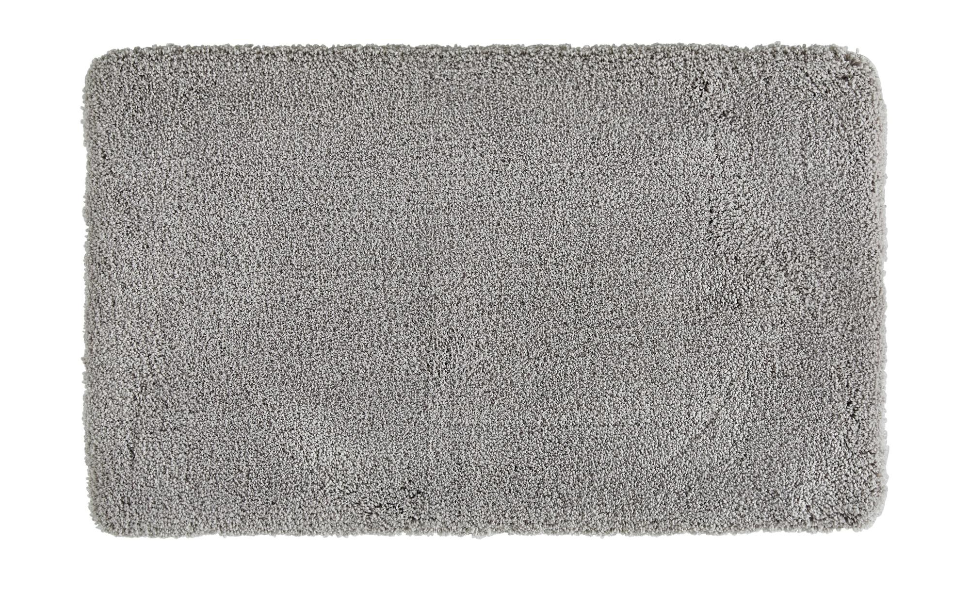 HOME STORY Badteppich  Softy ¦ silber ¦ 100% Polyester ¦ Maße (cm): B: 55 Badtextilien und Zubehör > Badematten & Badvorleger - Höffner