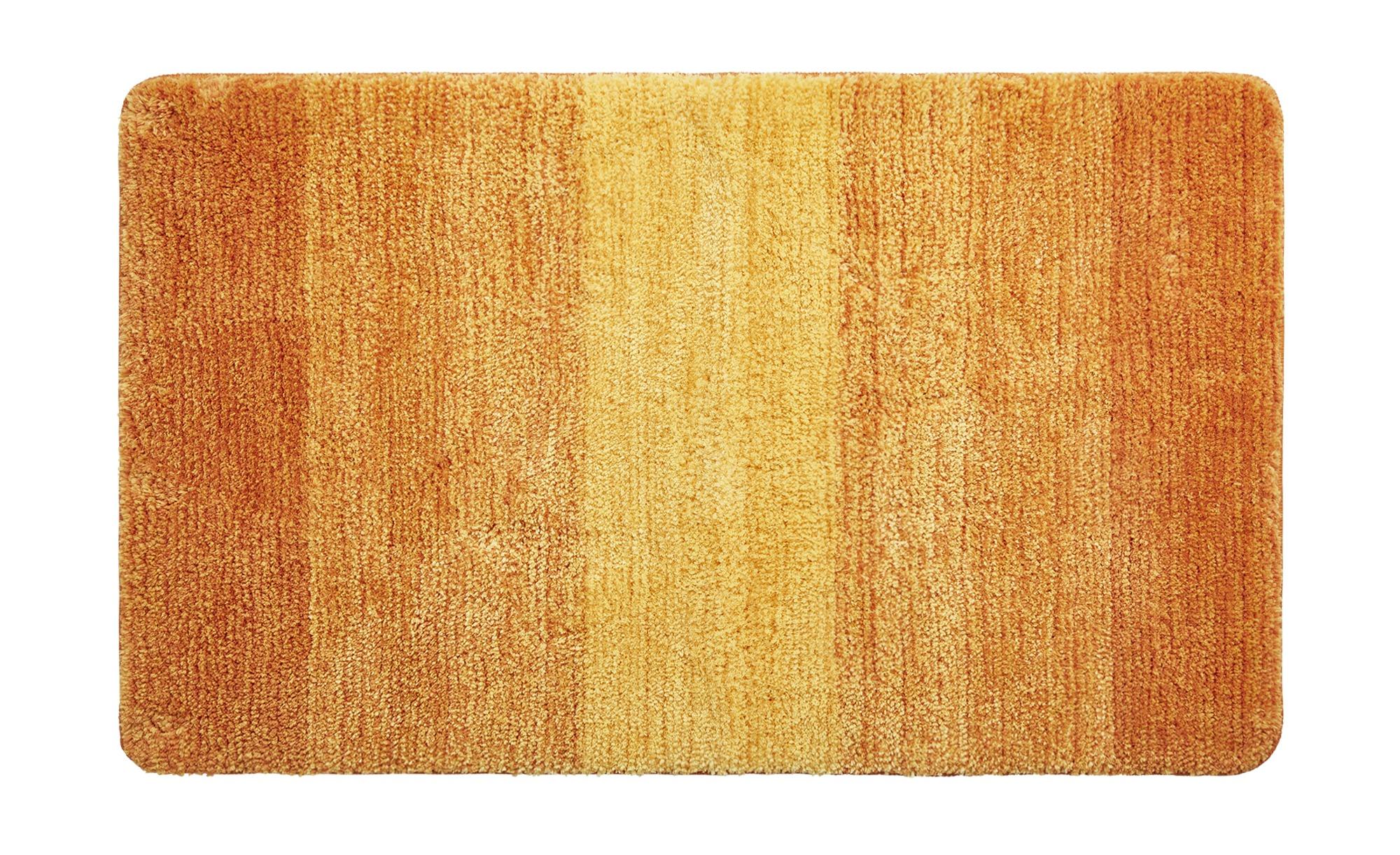 Badteppich  Grafiko ¦ orange ¦ 100% Mikrofaser ¦ Maße (cm): B: 55 Badtextilien und Zubehör > Badematten & Badvorleger - Höffner