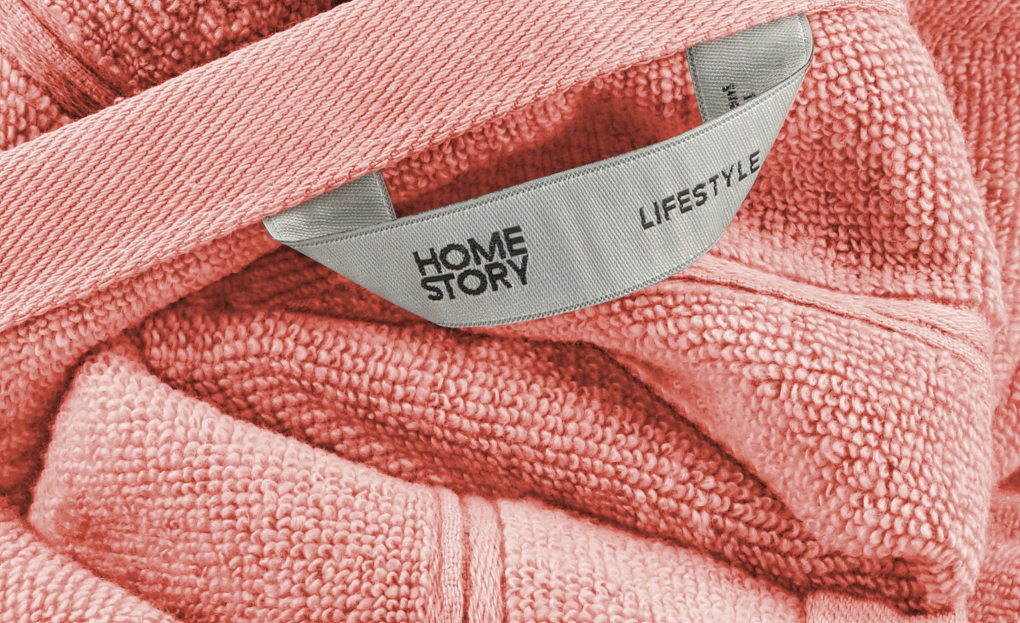 HOME STORY Badetuch  Lifestyle ¦ orange ¦ reine Baumwolle ¦ Maße (cm): B: 100 Badtextilien und Zubehör > Handtücher & Badetücher > Badetücher & Saunatücher - Höffner