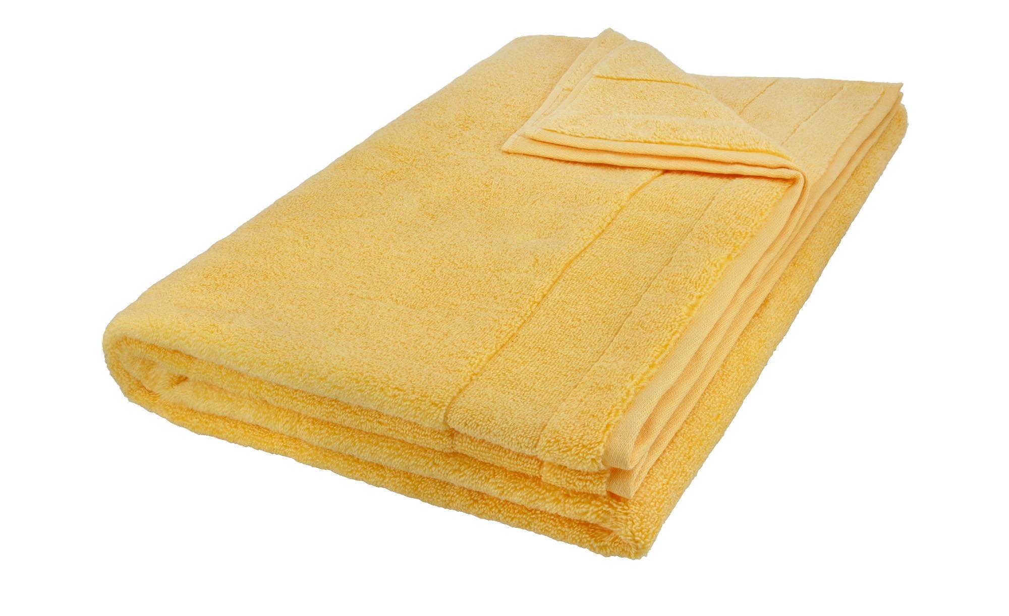 VOSSEN Badetuch  Cloud ¦ gelb ¦ 100% Baumwolle ¦ Maße (cm): B: 100 Badtextilien und Zubehör > Handtuch-Sets - Höffner