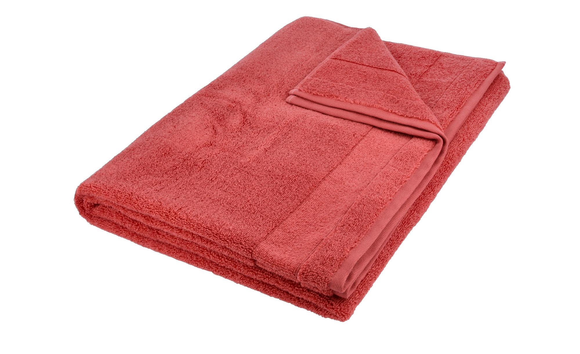 VOSSEN Badetuch  Cloud ¦ rot ¦ 100% Baumwolle ¦ Maße (cm): B: 100 Badtextilien und Zubehör > Handtuch-Sets - Höffner