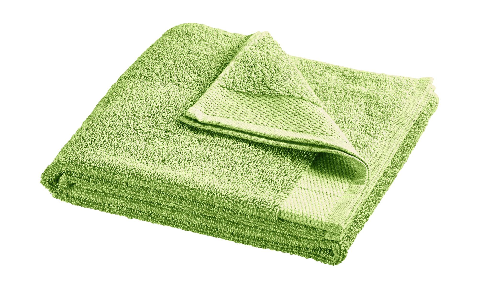 HOME STORY Handtuch  Bubble ¦ grün ¦ reine Baumwolle (100% Baumwolle) ¦ Maße (cm): B: 50 Badtextilien und Zubehör > Handtücher & Badetücher > Handtücher - Höffner