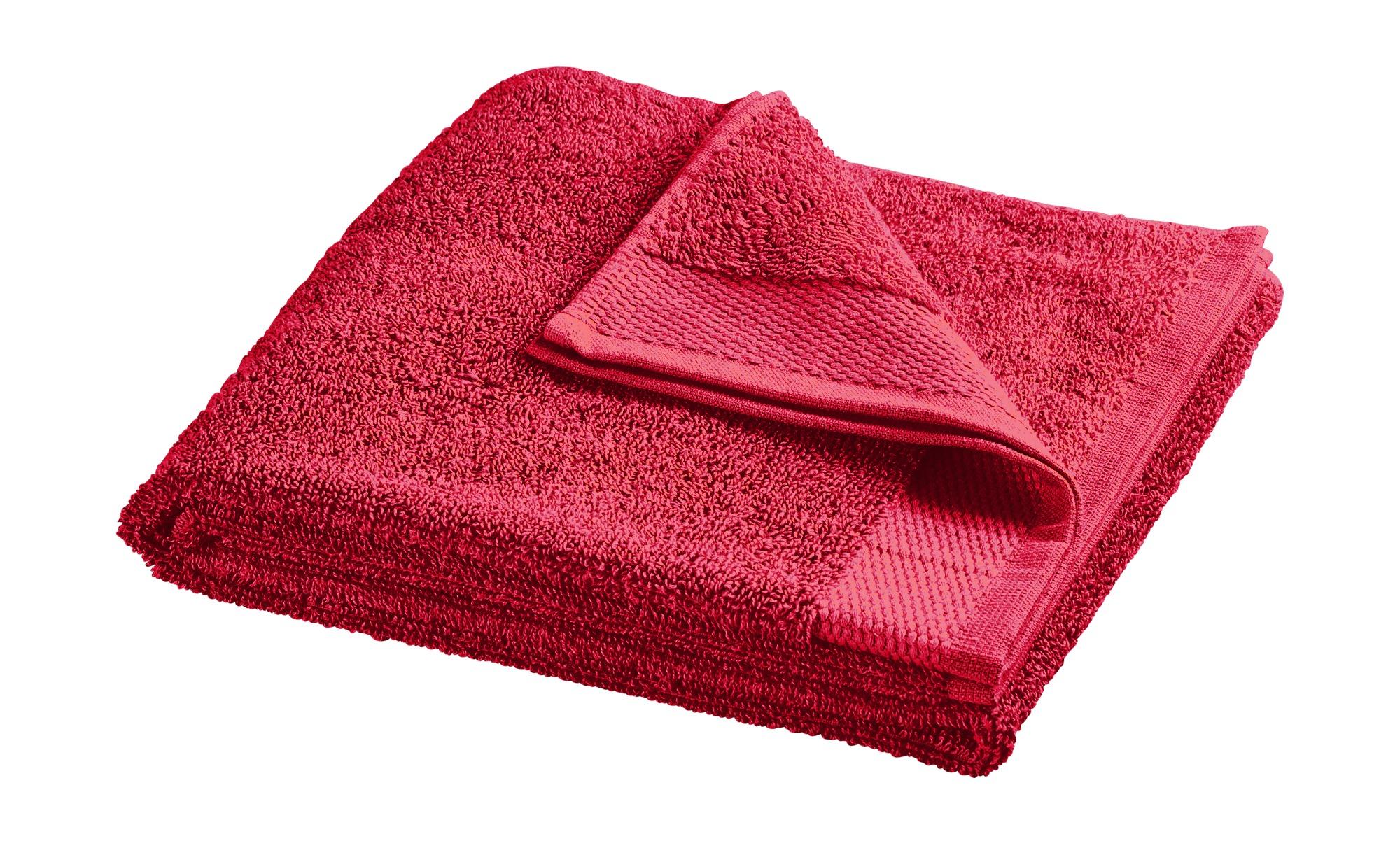 HOME STORY Handtuch  Bubble ¦ rot ¦ reine Baumwolle (100% Baumwolle) ¦ Maße (cm): B: 50 Badtextilien und Zubehör > Handtücher & Badetücher > Handtücher - Höffner