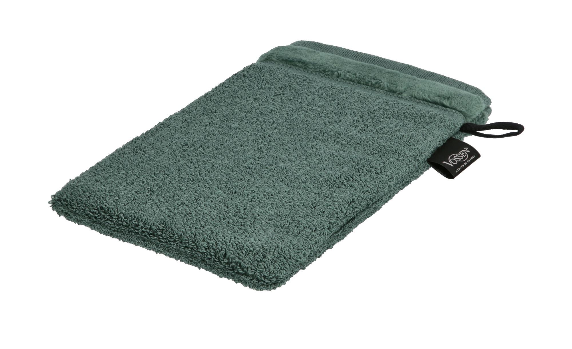 VOSSEN Waschhandschuh  Pure ¦ grün ¦ 100% Bio-Baumwolle ¦ Maße (cm): B: 16 Badtextilien und Zubehör > Handtücher & Badetücher > Handtücher - Höffner