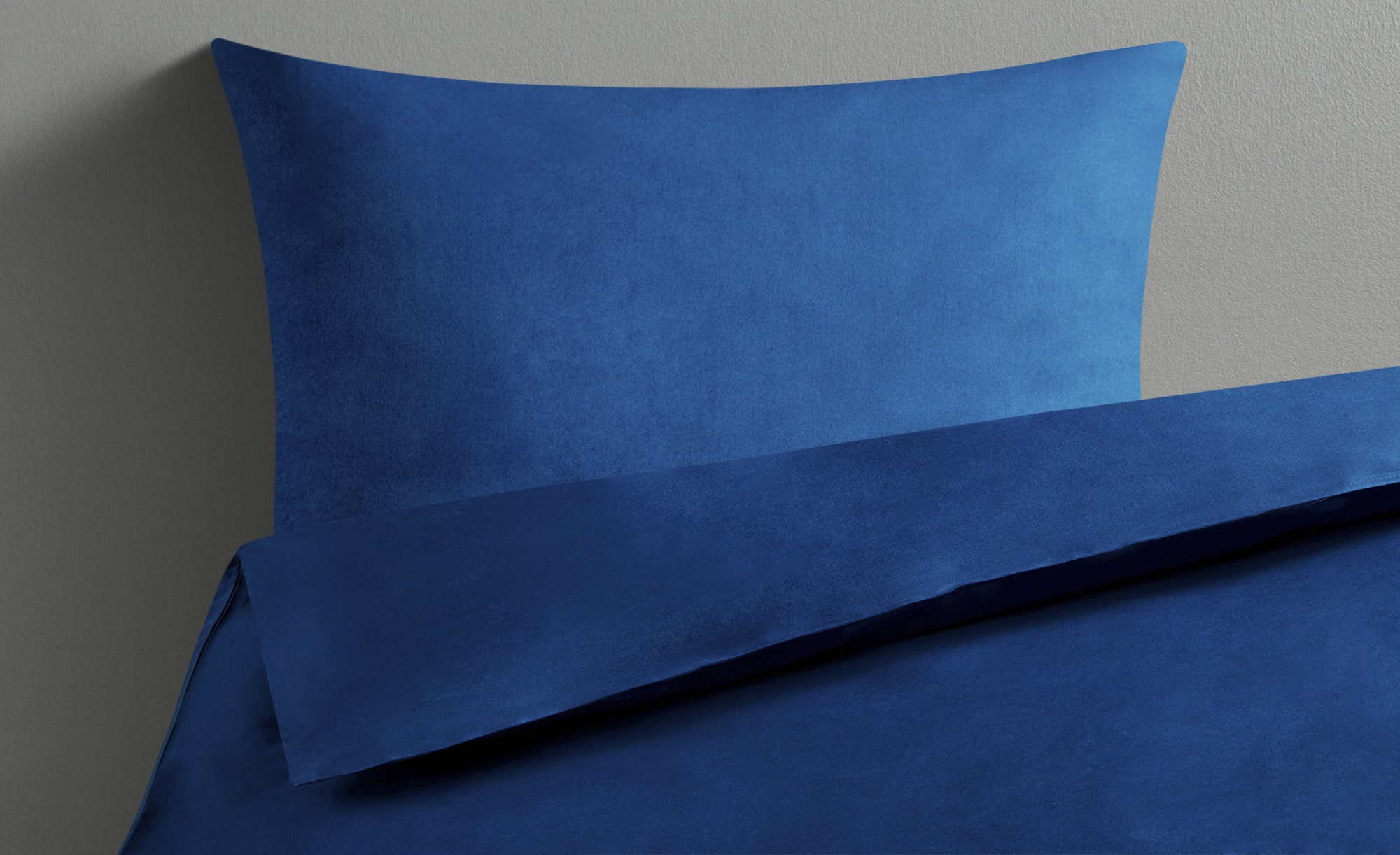 LAVIDA Bettwäsche  Uni Satin ¦ blau ¦ reine Baumwolle ¦ Maße (cm): B: 135 Bettwaren > Bettwäsche-Sets > weitere Bettwäschesets - Höffner