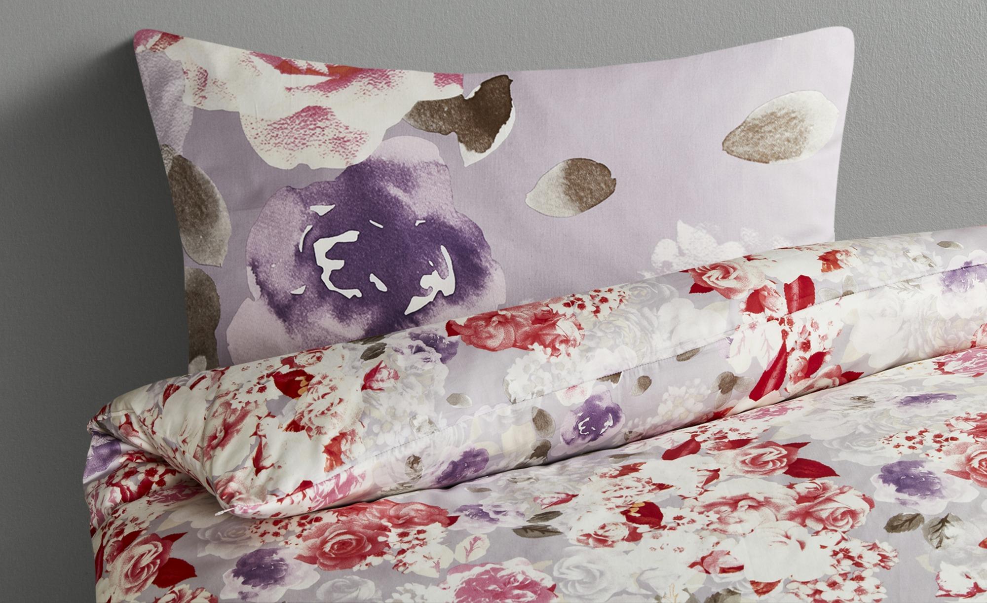 Belcampo Satin Bettwäsche  Röschen ¦ rosa/pink ¦ reine Baumwolle ¦ Maße (cm): B: 135 Bettwaren > Bettwäsche-Sets > weitere Bettwäschesets - Höffner