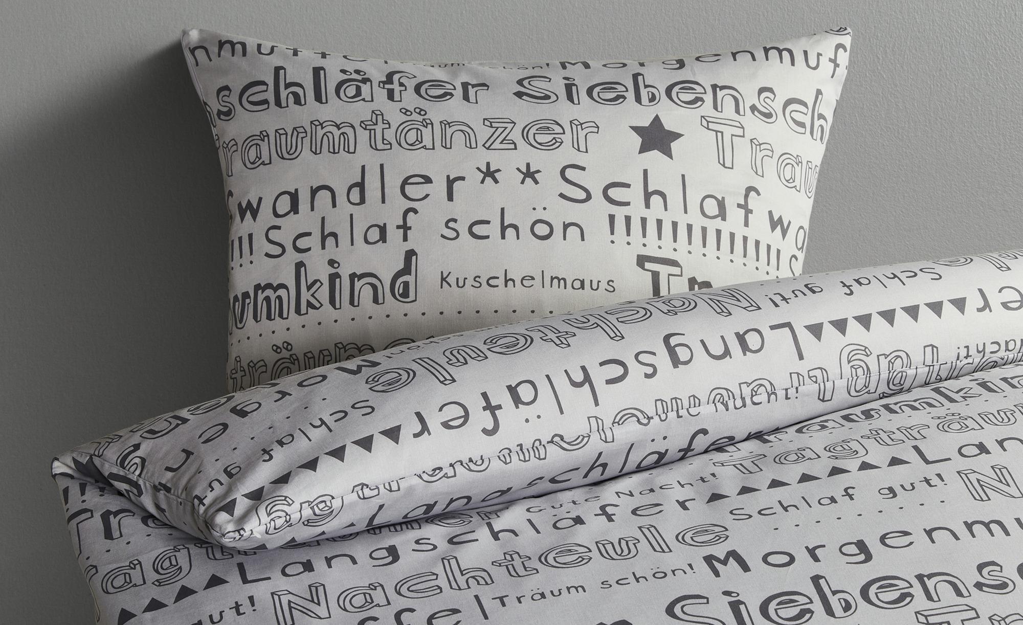 LAVIDA Renforcé Bettwäsche  Morgenmuffel ¦ grau ¦ reine Baumwolle  ¦ Maße (cm): B: 135 Bettwaren > Bettwäsche-Sets > weitere Bettwäschesets - Höffner