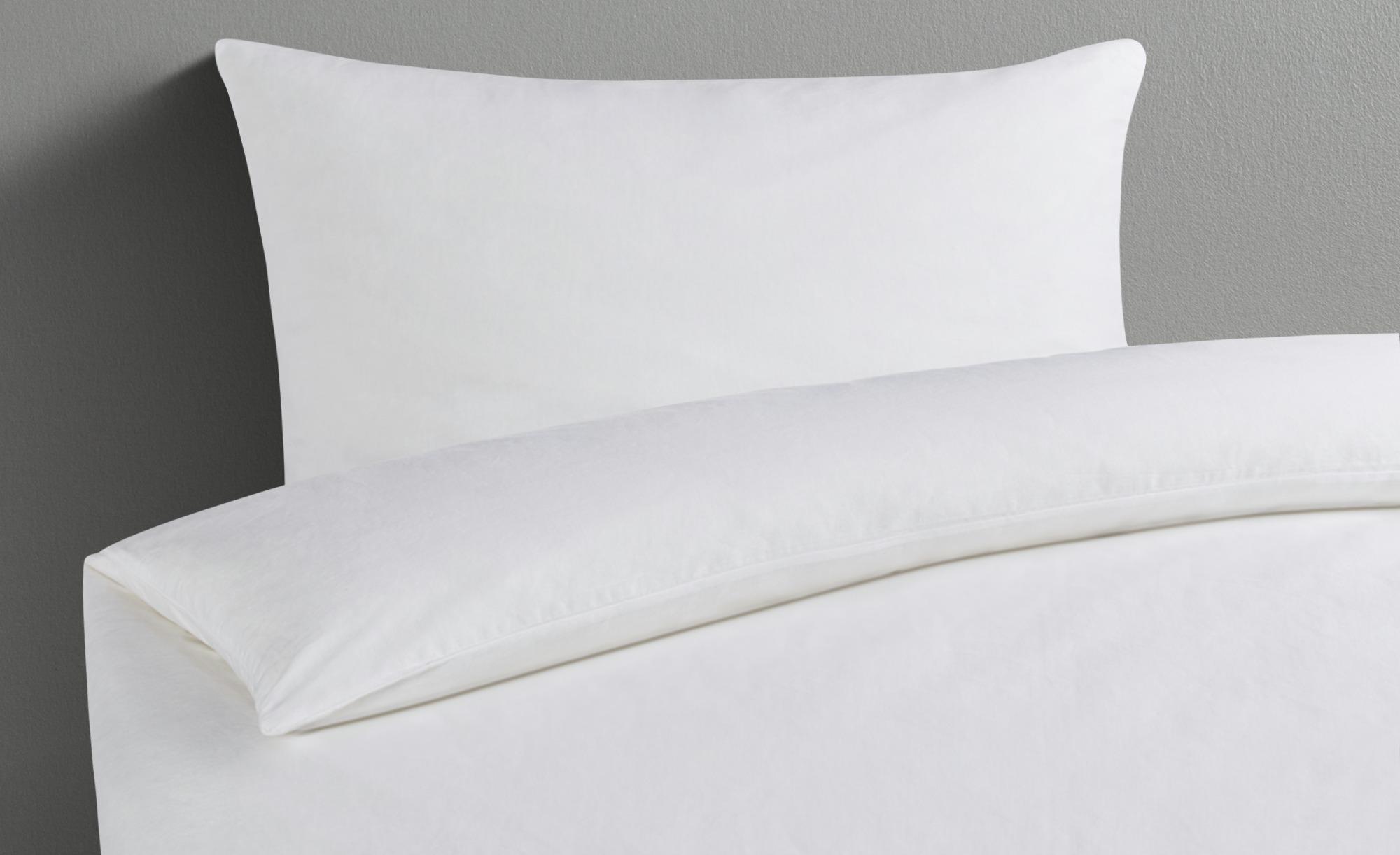 Como Leinen Bettwäsche Portofino Weiß 135x200 1x 80x80 Cm