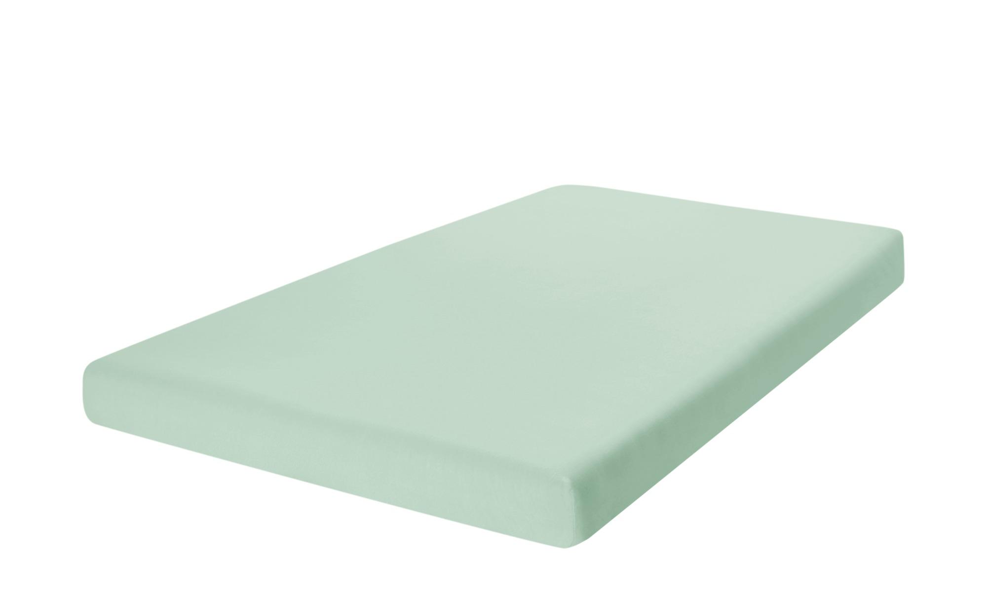 como Spannbetttuch  Uni Jersey 2010 ¦ grün ¦ 100% Baumwolle ¦ Maße (cm): B: 90 Bettwaren > Bettlaken > Sonstige Spannbettlaken - Höffner