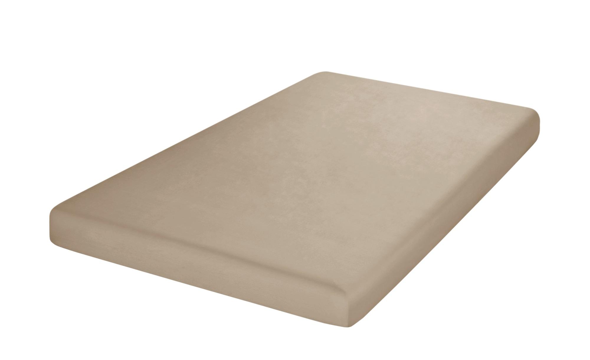 HOME STORY Uni Satin Tuch  5502 ¦ beige ¦ 100 % Baumwolle ¦ Maße (cm): B: 90 Bettwaren > Bettlaken > Sonstige Spannbettlaken - Höffner
