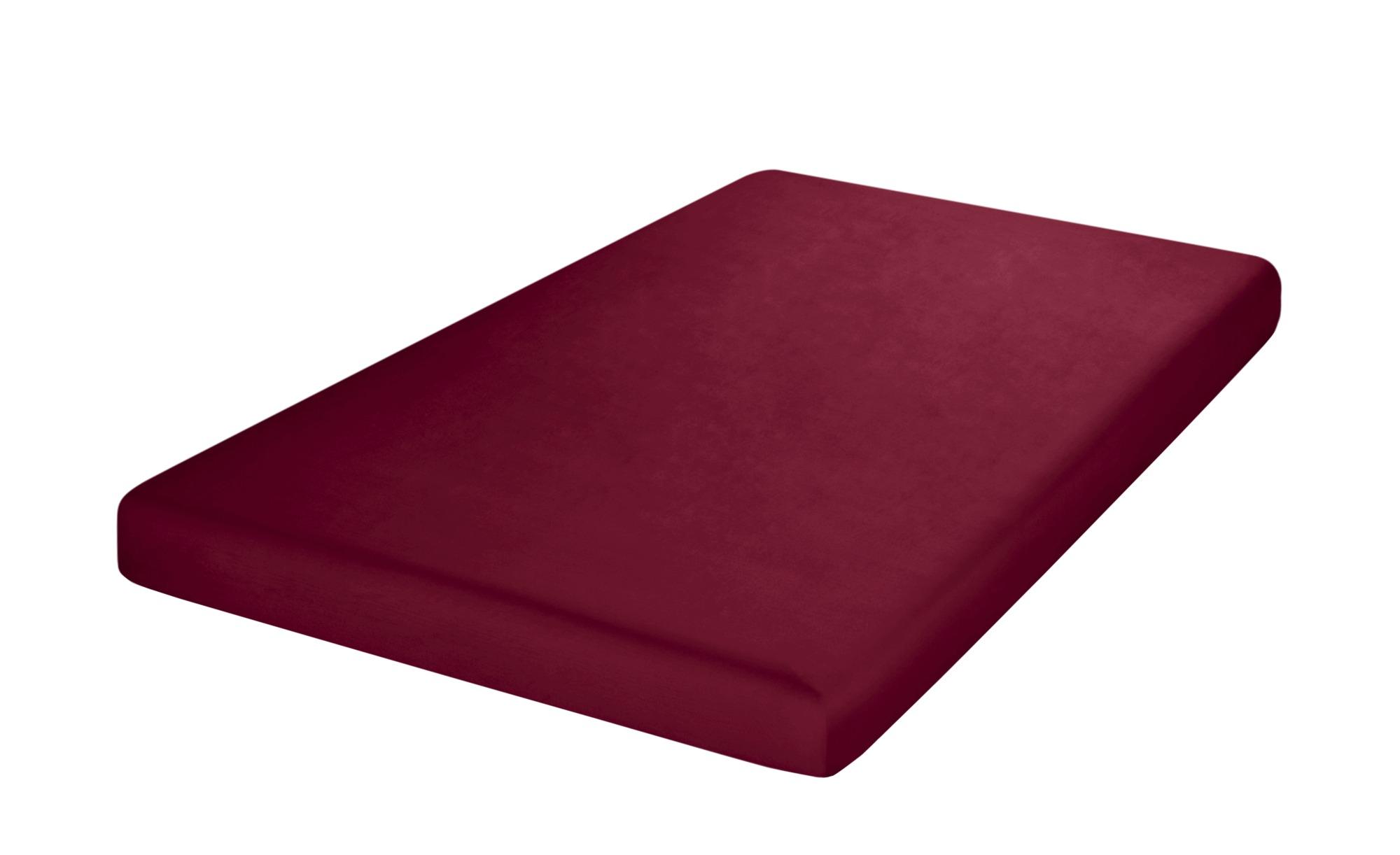 HOME STORY Uni Satin Tuch  5502 ¦ rot ¦ 100 % Baumwolle ¦ Maße (cm): B: 90 Bettwaren > Bettlaken > Sonstige Spannbettlaken - Höffner