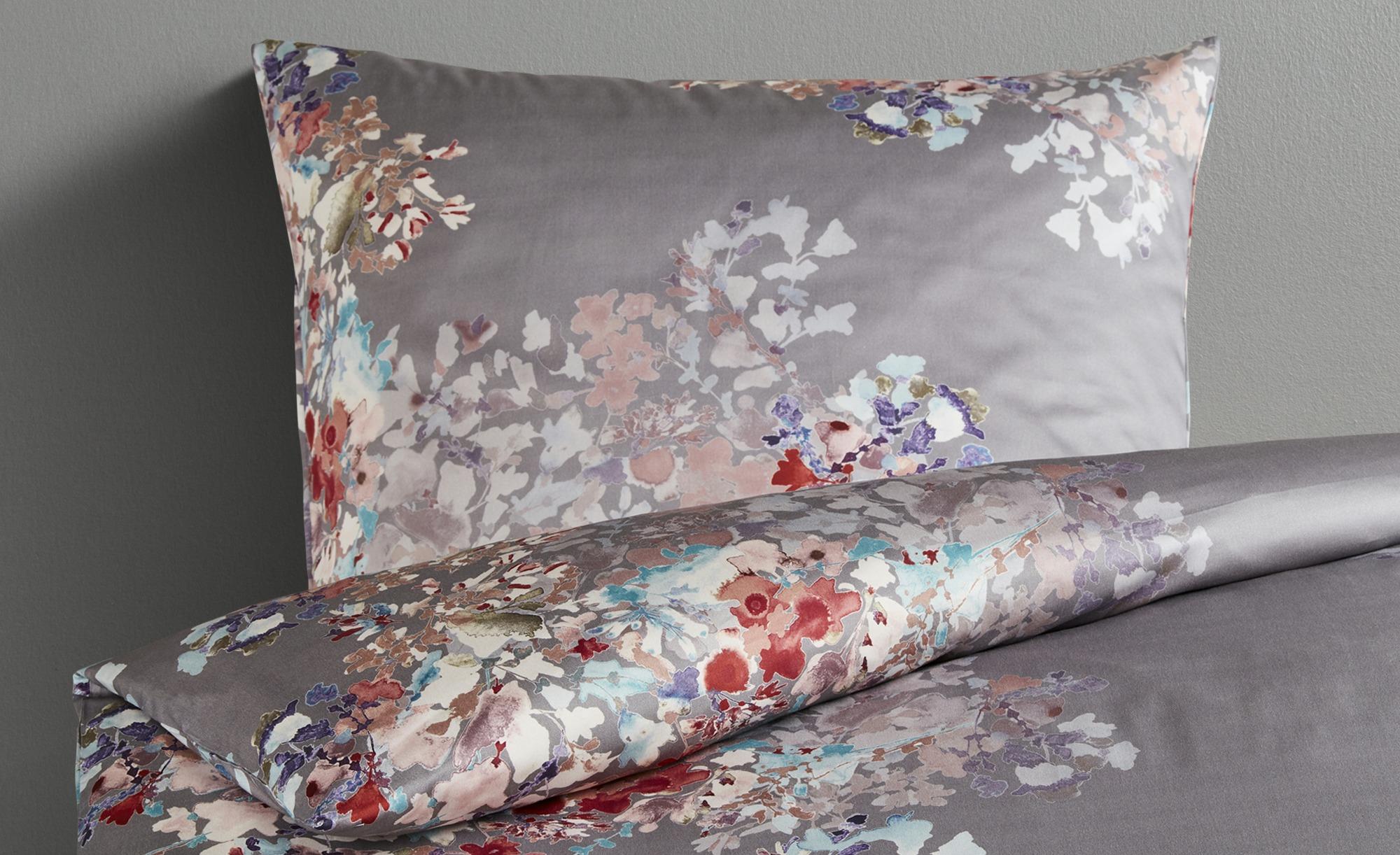 Belcampo Satin Bettwäsche  ED-426-2 Floral ¦ grau ¦ 100% Baumwolle ¦ Maße (cm): B: 135 Bettwaren > Bettwäsche-Sets > weitere Bettwäschesets - Höffner