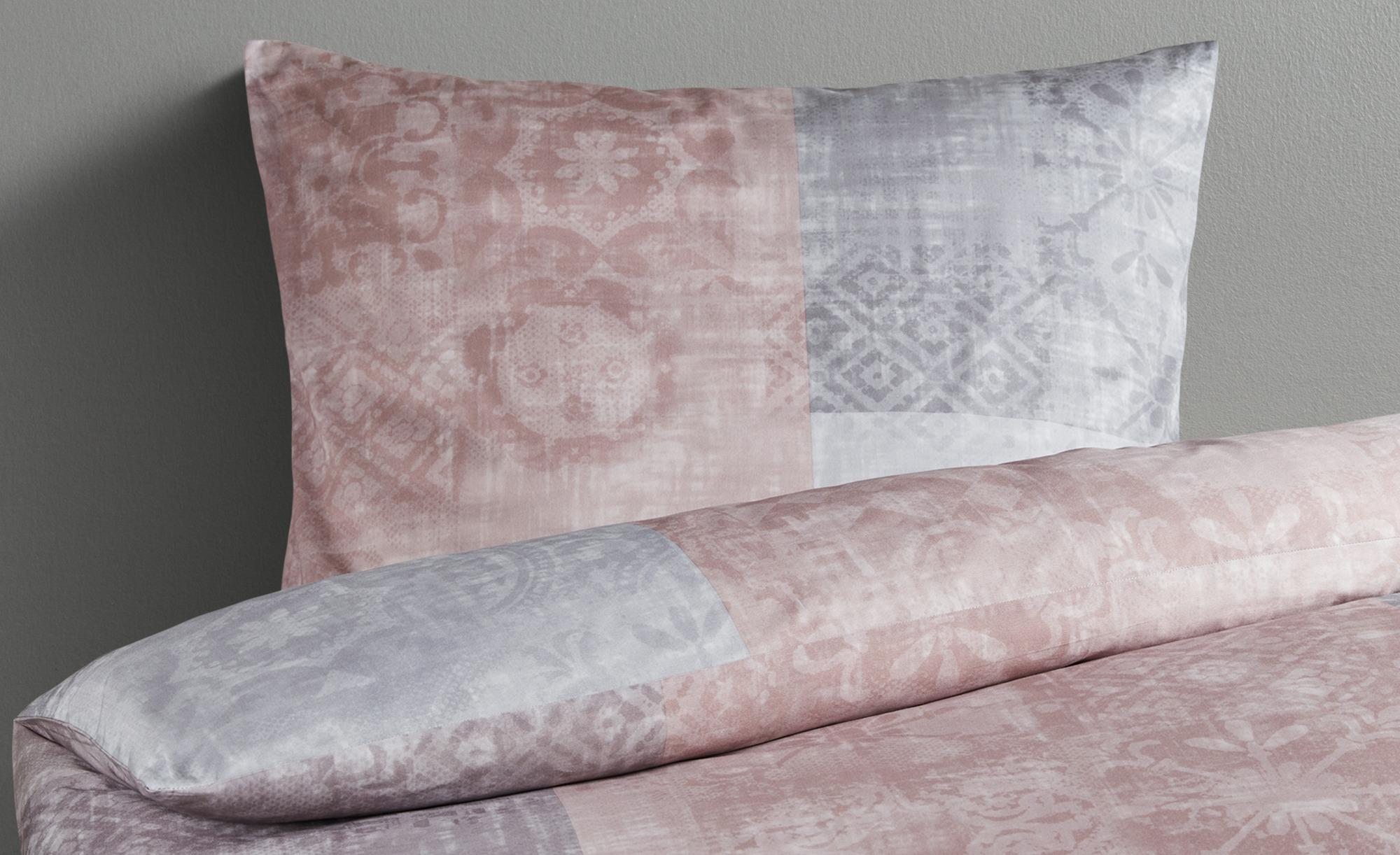 HOME STORY Satin Bettwäsche   JB-458 Ornament ¦ rosa/pink ¦ 100% Baumwolle ¦ Maße (cm): B: 135 Bettwaren > Bettwäsche-Sets > weitere Bettwäschesets - Höffner