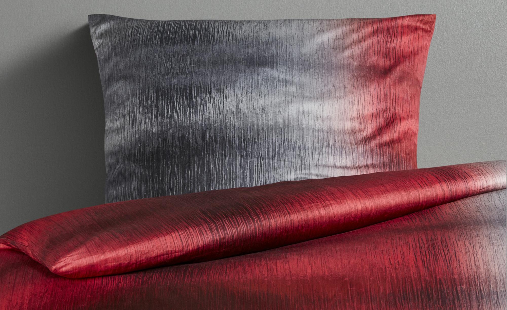 HOME STORY Satin Bettwäsche  JB-481 Verlauf ¦ rot ¦ 100% Baumwolle ¦ Maße (cm): B: 155 Bettwaren > Bettwäsche-Sets > Bettwäsche-Sets in Übergrößen - Höffner
