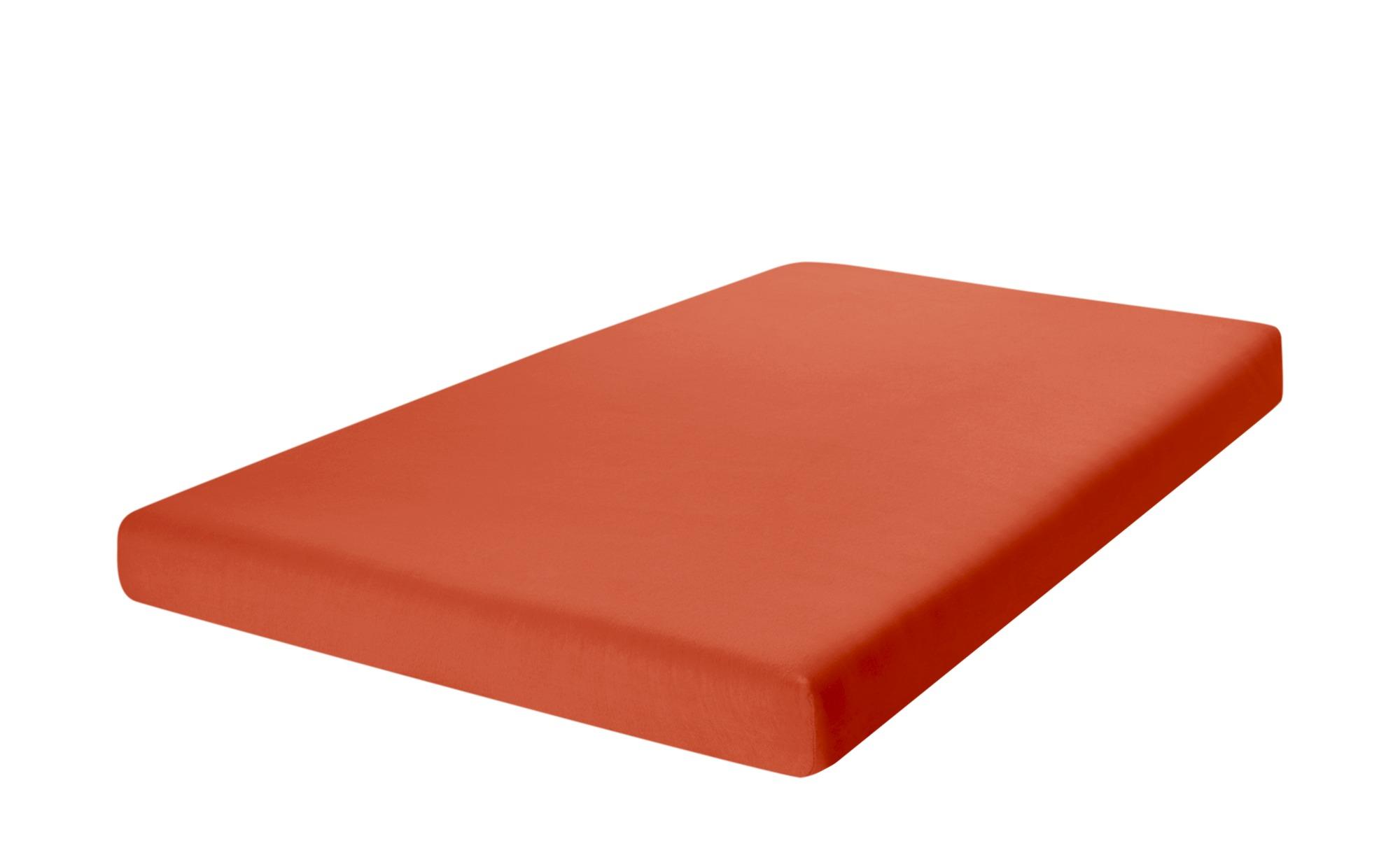 como Spannbetttuch  Uni Jersey 2010 ¦ orange ¦ 100% Baumwolle ¦ Maße (cm): B: 90 Bettwaren > Bettlaken > Sonstige Spannbettlaken - Höffner