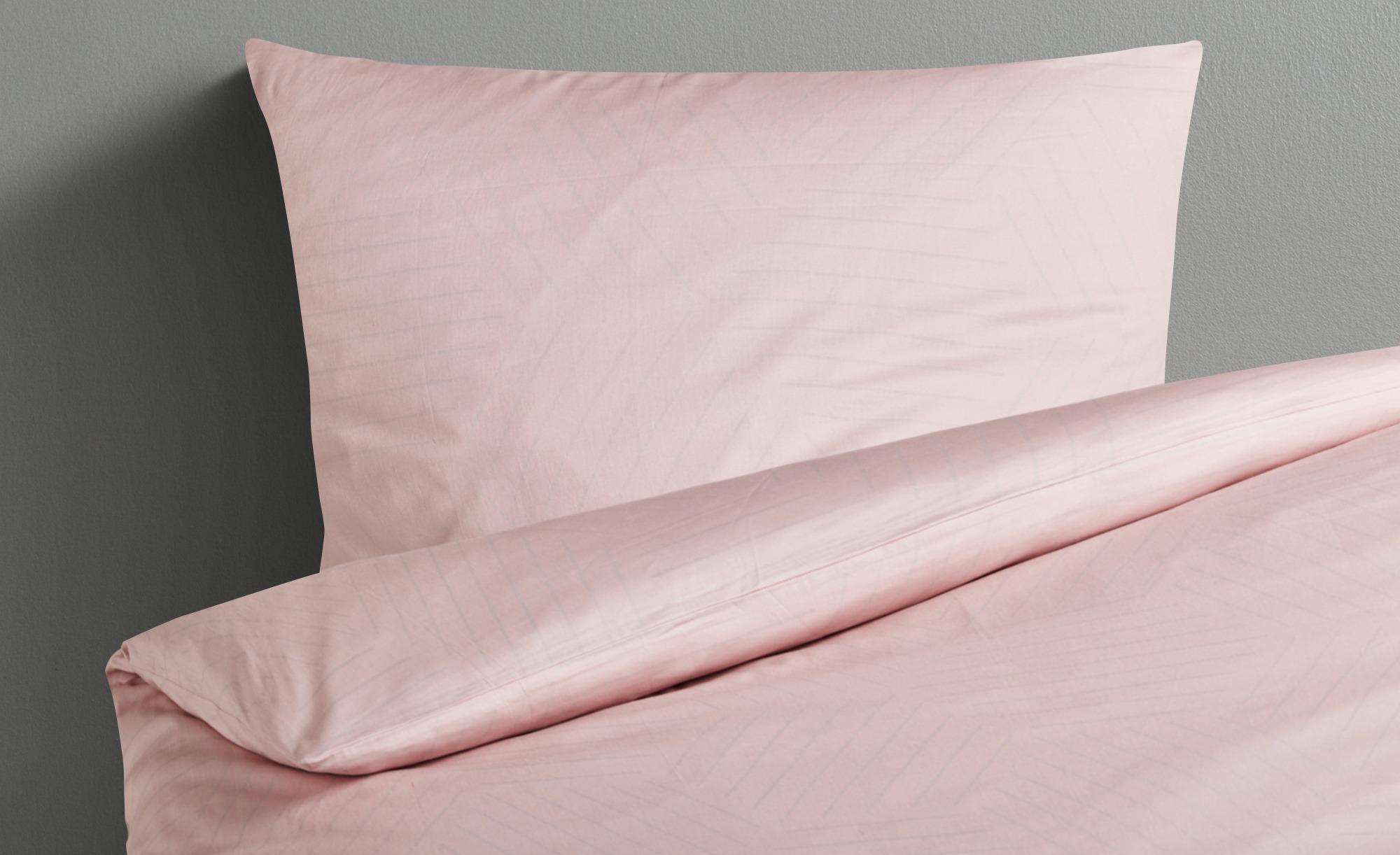 HOME STORY Satin Bettwäsche  Soft Touch ¦ rosa/pink ¦ Baumwolle ¦ Maße (cm): B: 135 Bettwaren > Bettwäsche-Sets > weitere Bettwäschesets - Höffner