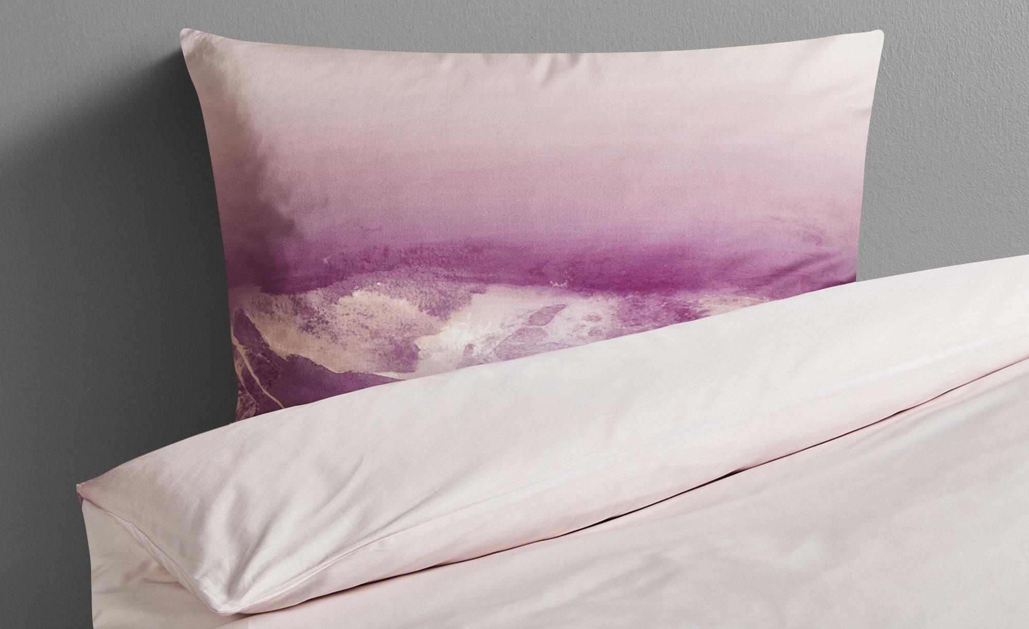 HOME STORY Satin Bettwäsche  Soft Touch ED-604-1 ¦ rosa/pink ¦ 100% Baumwolle ¦ Maße (cm): B: 135 Bettwaren > Bettwäsche-Sets > weitere Bettwäschesets - Höffner