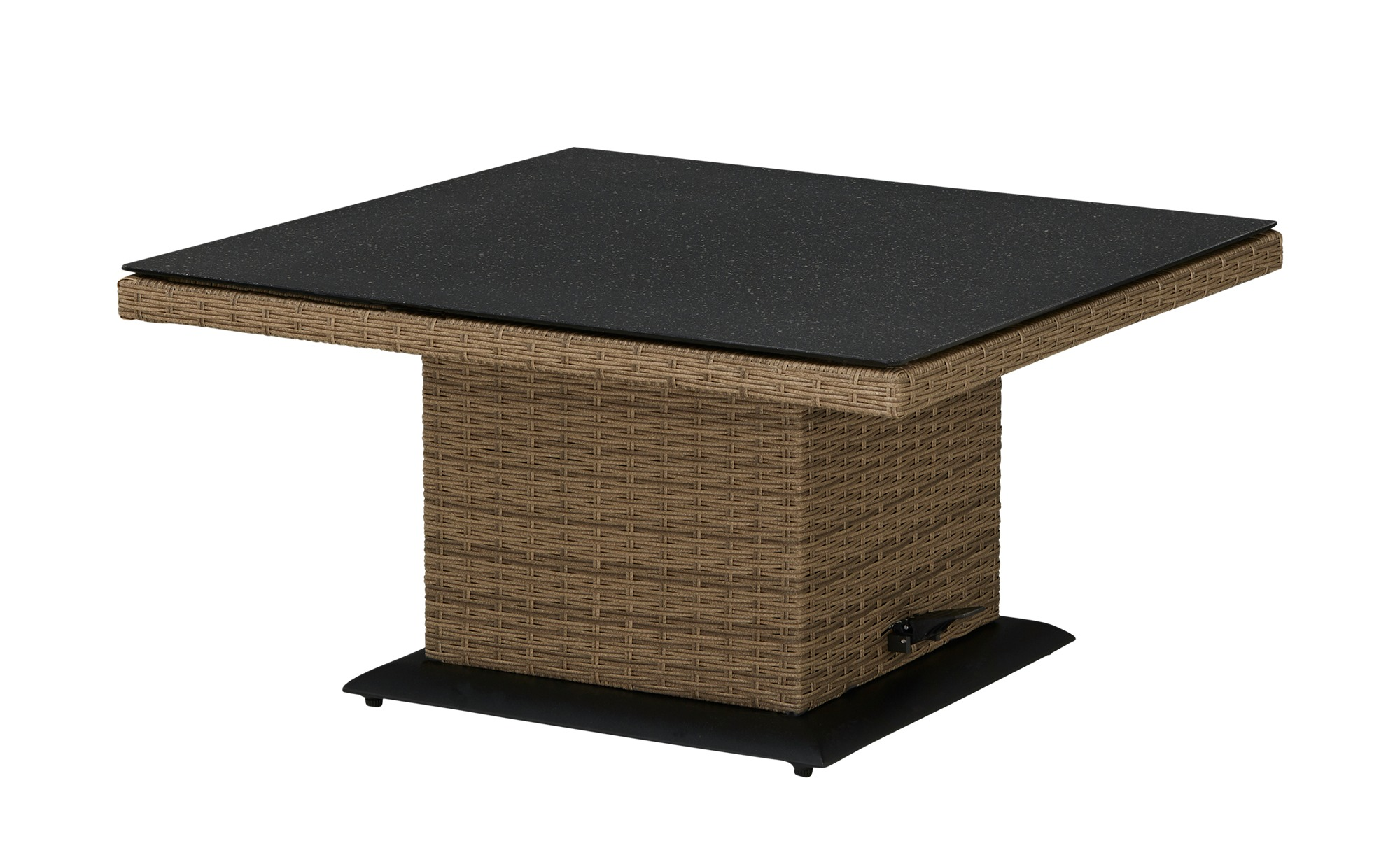 a casa mia Lift-Tisch   Florenz / Ibiza ¦ braun ¦ Aluminium pulverbeschichtet/ PE-Geflecht ¦ Maße (cm): B: 90 H: 47 Garten > Gartenmöbel > Gartentische - Höffner