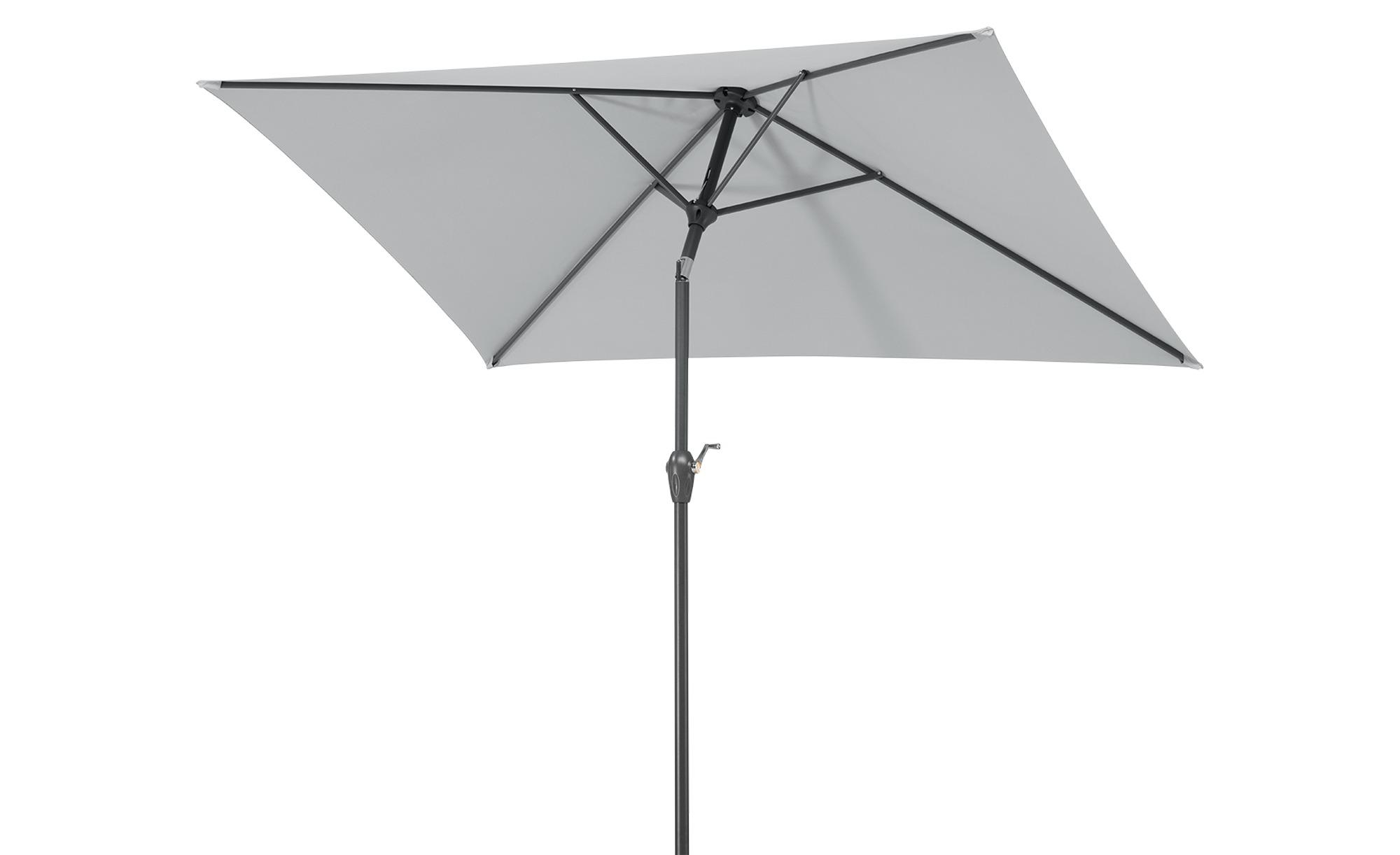 Sonnenschirm  Bilbao ¦ grau Garten > Sonnenschutz > Sonnenschirme - Höffner