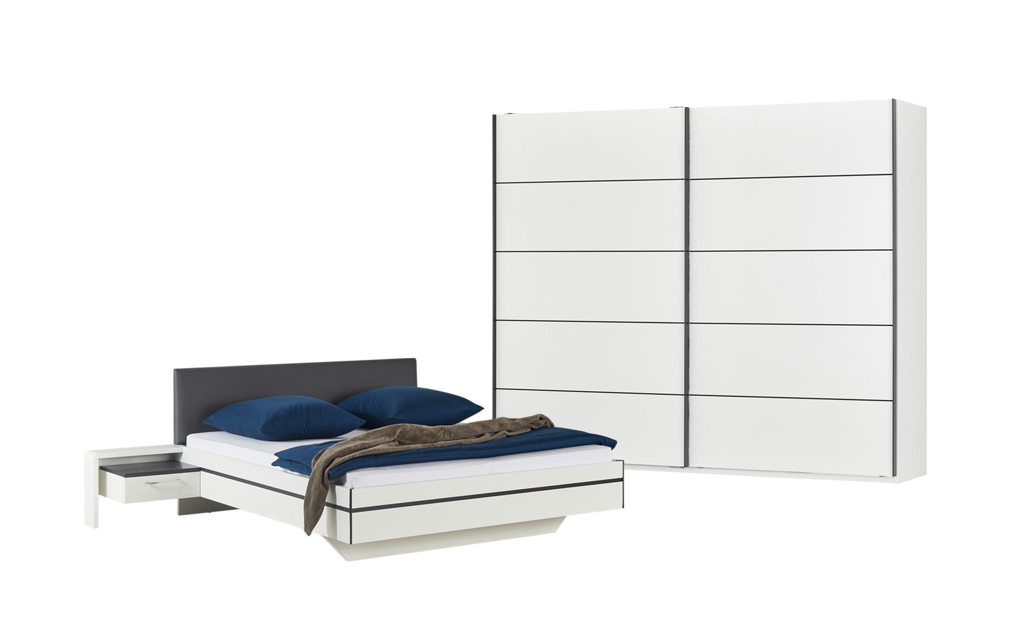 uno Komplett-Schlafzimmer, 4-teilig  Snow ¦ weiß ¦ Maße (cm): B: 270 H: 226 T: 60 Komplett-Schlafzimmer - Höffner