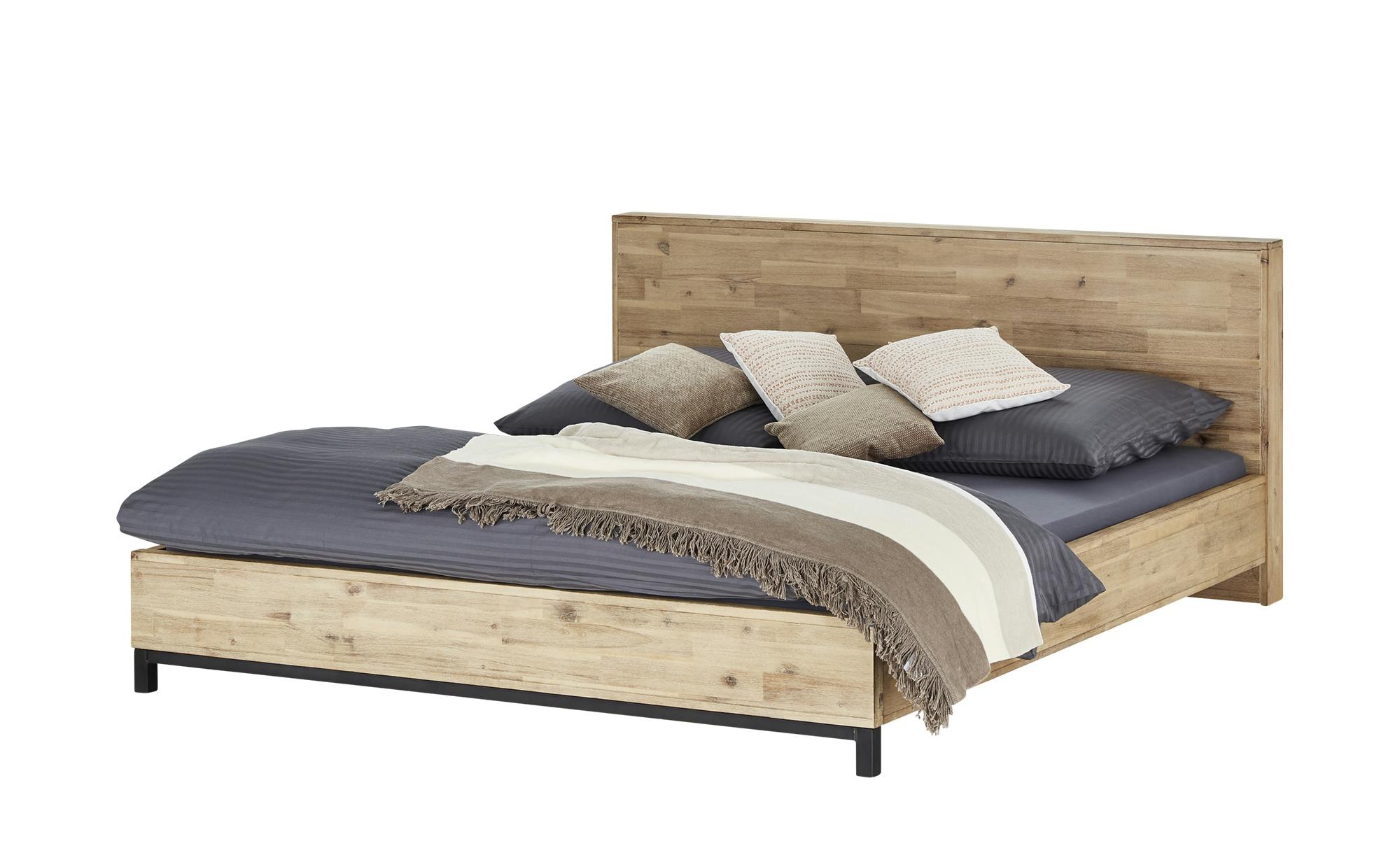 Doppelbettgestell  Croydon ¦ holzfarben ¦ Maße (cm): B: 191 H: 91 T: 214 Betten > Futonbetten - Höffner