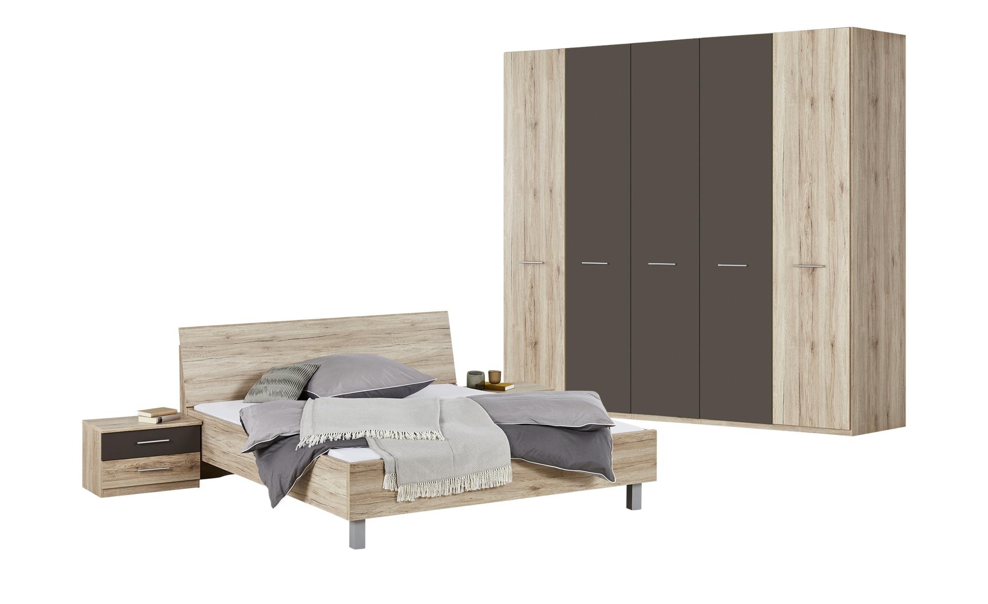 Komplett-Schlafzimmer 4-teilig  Pompea ¦ holzfarben ¦ Maße (cm): B: 250 H: 216 T: 58 Komplett-Schlafzimmer - Höffner
