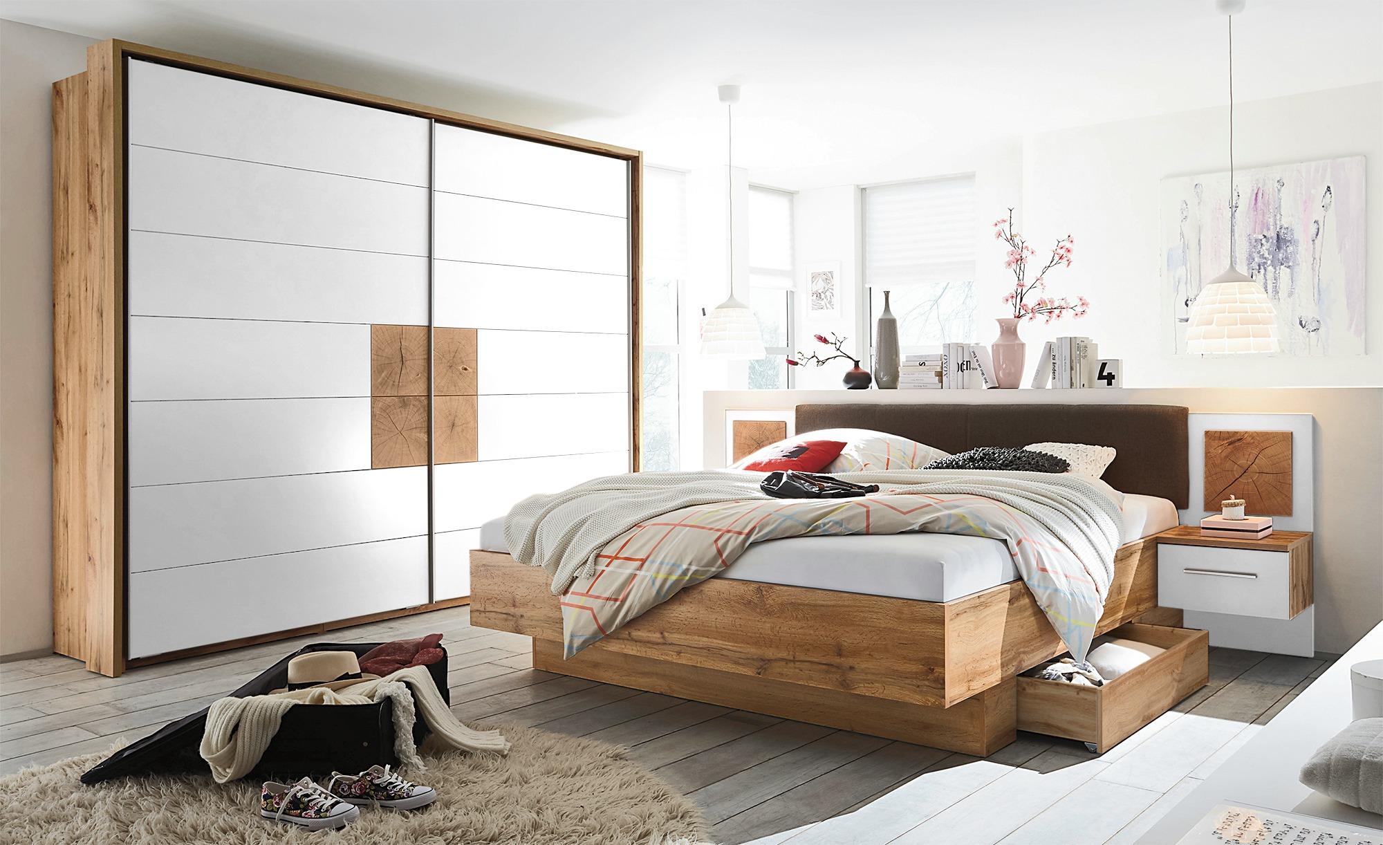 holzfarben-holzwerkstoff Komplett-Schlafzimmer online kaufen | Möbel ...