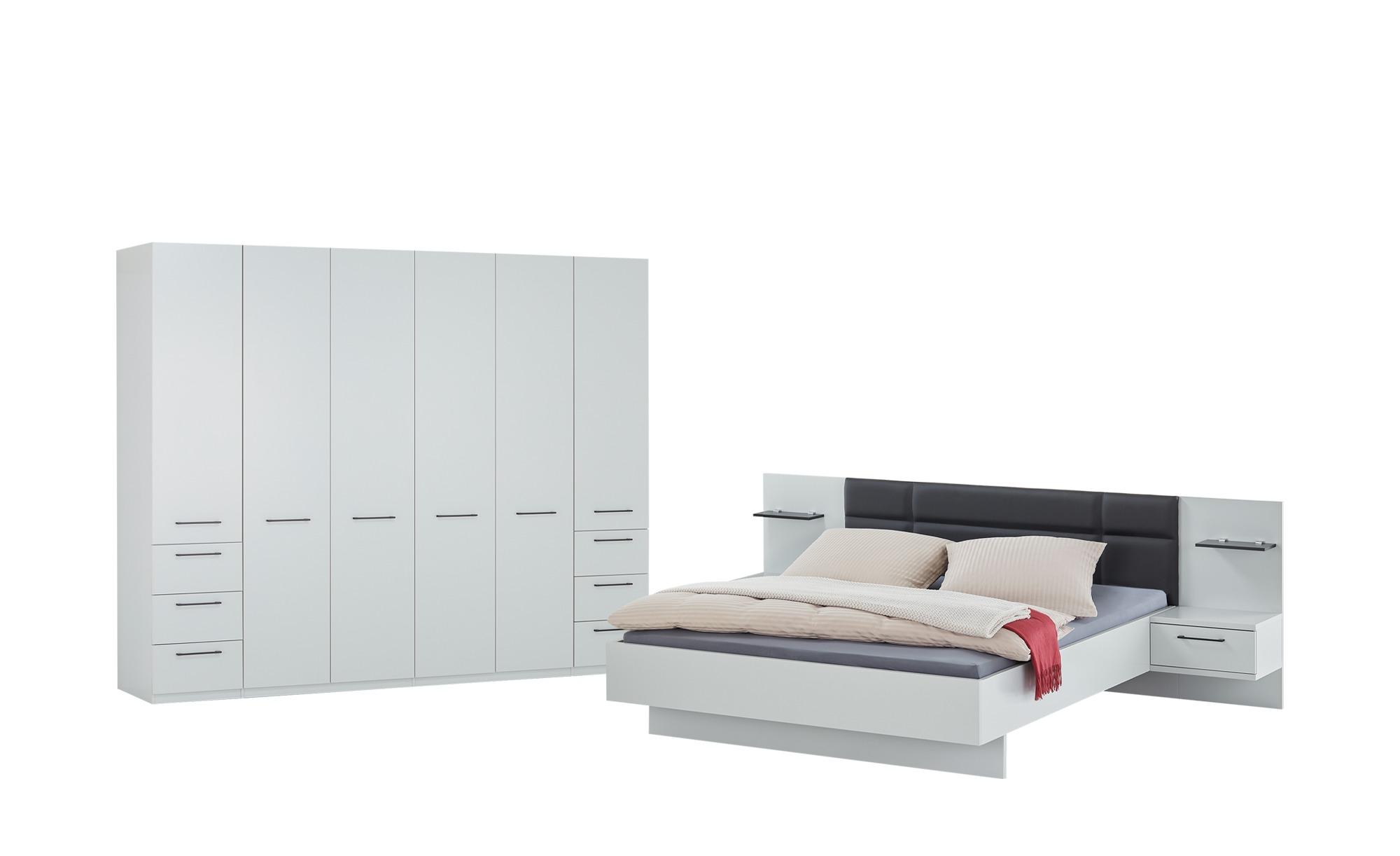 uno Komplett-Schlafzimmer, 4-teilig  Paris ¦ weiß ¦ Maße (cm): B: 282 H: 226 T: 60 Komplett-Schlafzimmer - Höffner