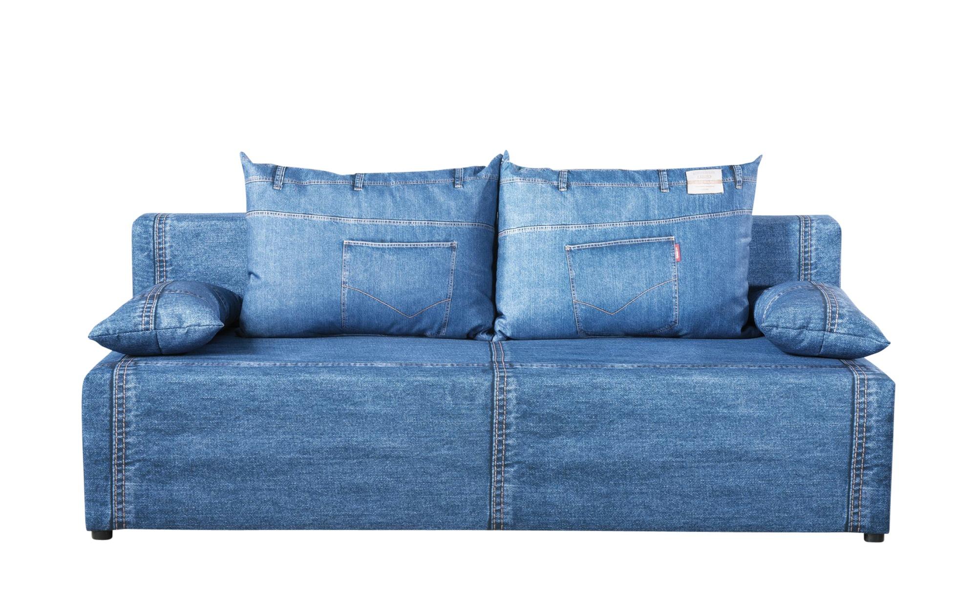 Schlafsofa  Denny ¦ blau ¦ Maße (cm): B: 91 H: 88 Polstermöbel > Sofas > Einzelsofas - Höffner