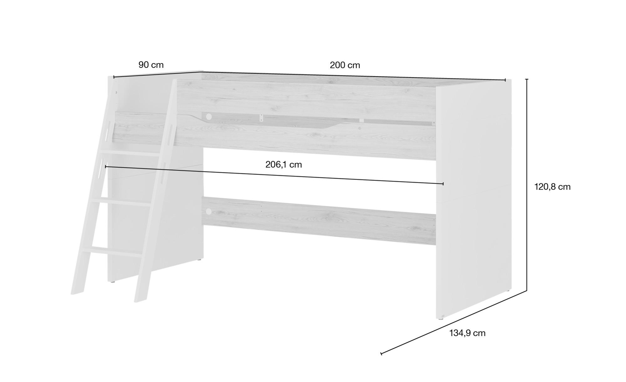 paidi spielbett fionn 90x200 cm 134 4 cm h ffner. Black Bedroom Furniture Sets. Home Design Ideas