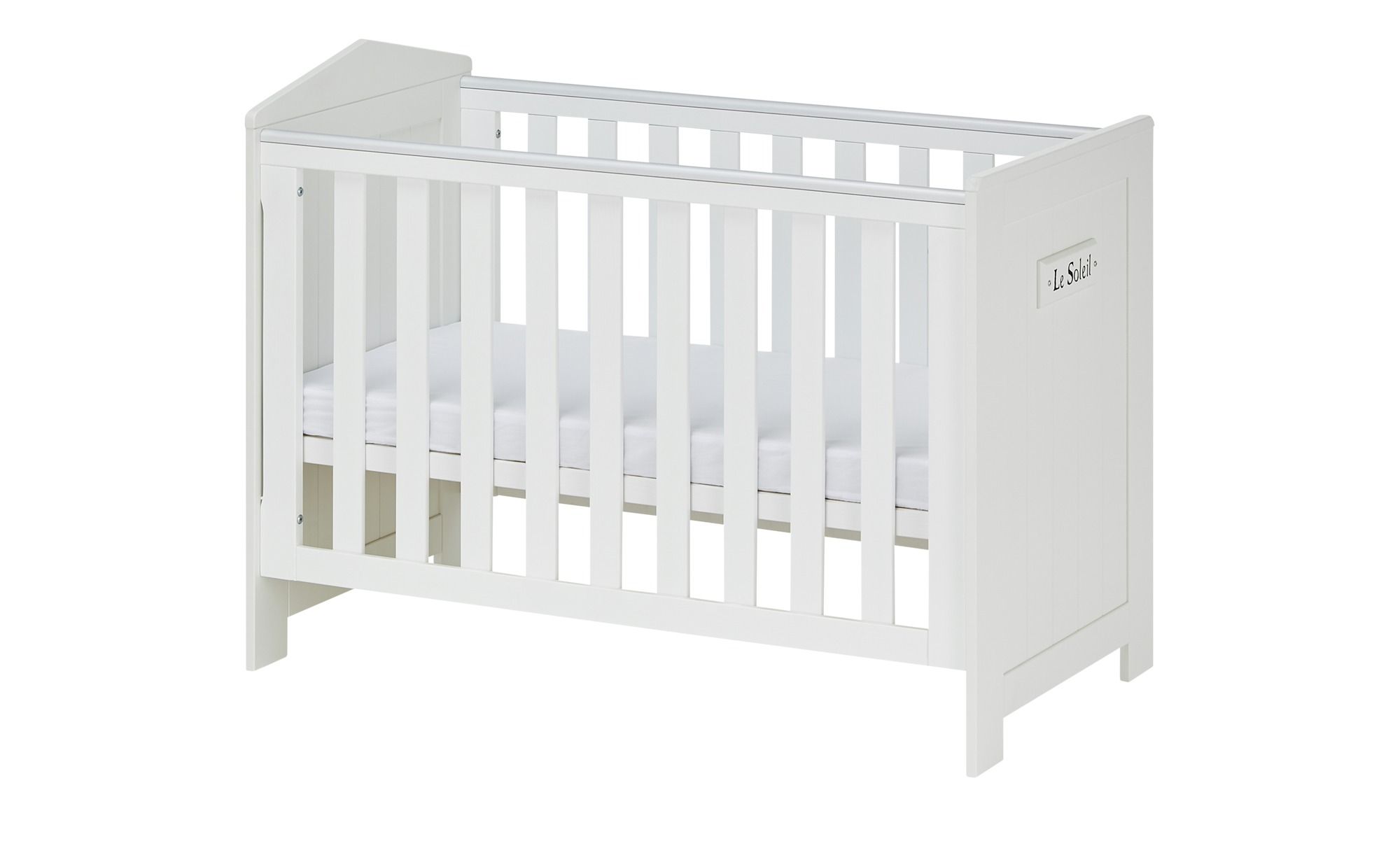 *Babybett  Mara ¦ weiß ¦ Maße (cm): B: 68 H: 95 T: 68 Baby > Babymöbel > Babybetten – Höffner*