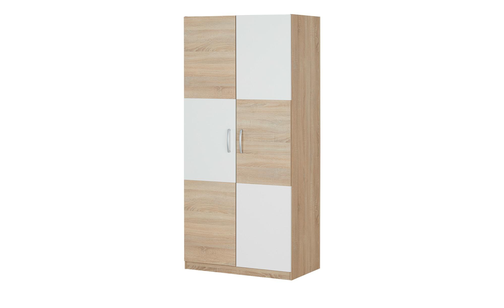 Kleiderschrank 2-türig  Caio ¦ holzfarben ¦ Maße (cm): B: 90 H: 193 T: 53 Schränke > Schranksysteme - Höffner