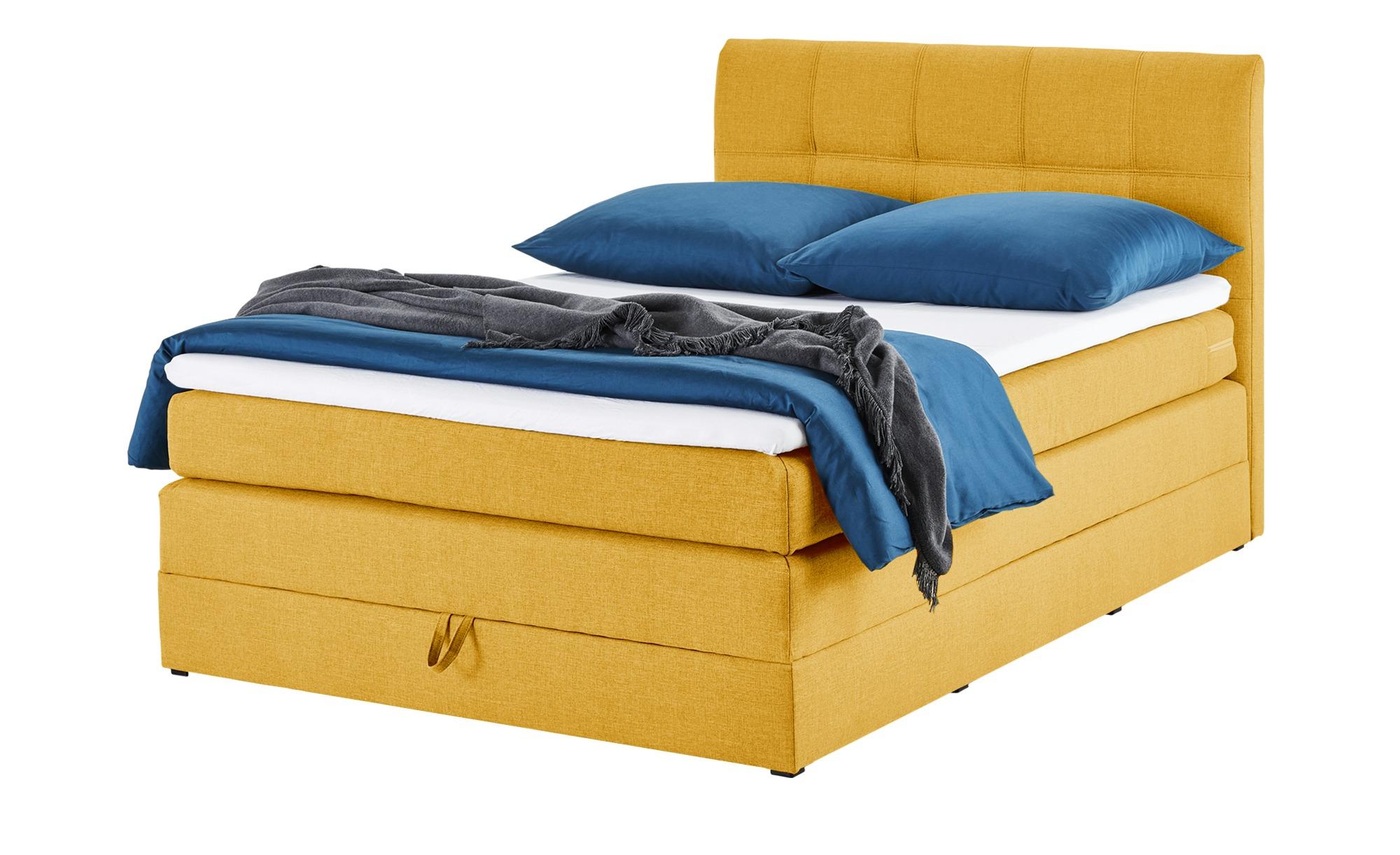 Boxspringbett 140x200 - gelb Baroness ¦ gelb ¦ Maße (cm): B: 143 H: 113 T: 212 Betten > Boxspringbetten > Boxspringbetten 140x200 - Höffner